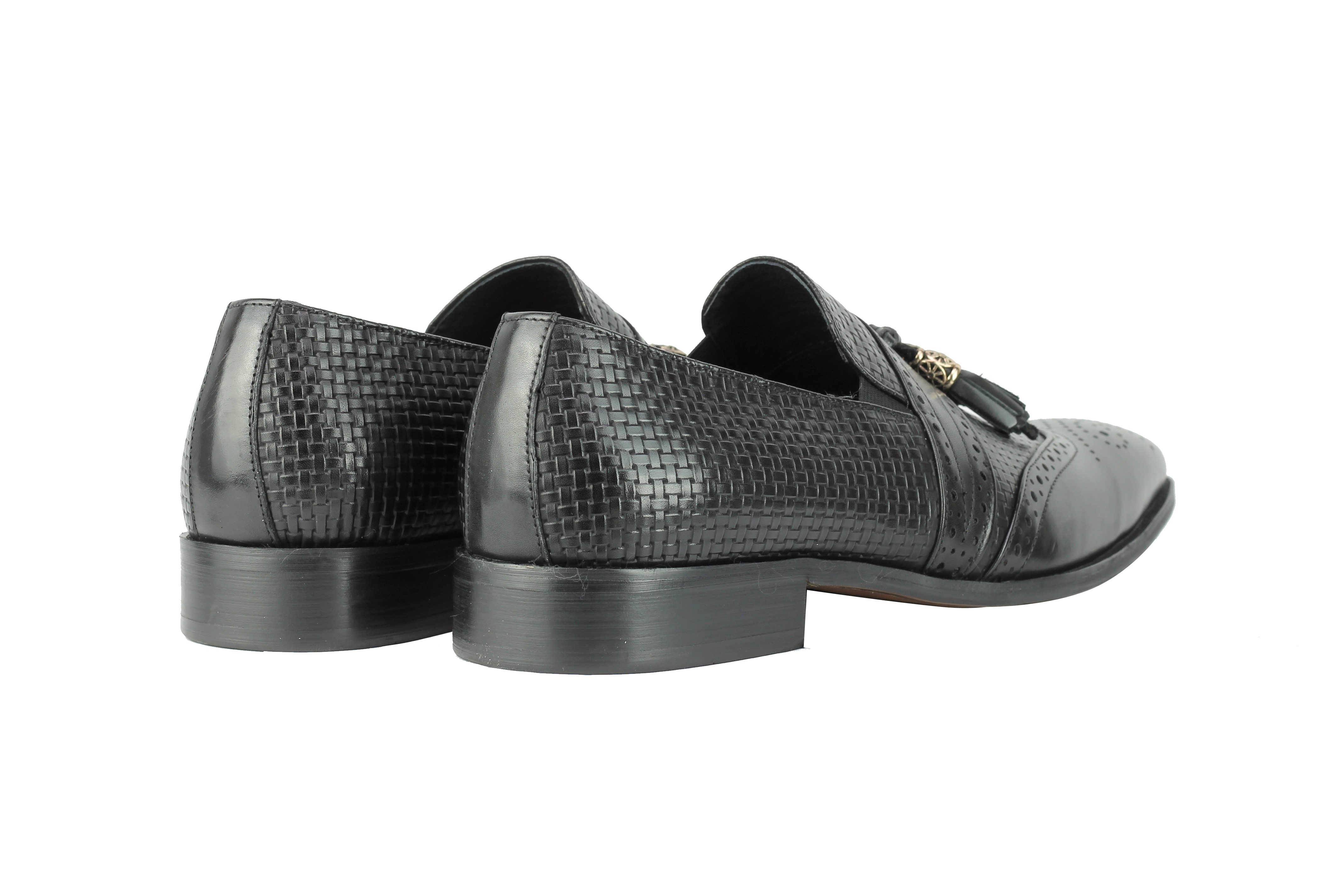 Mens-Real-Leather-Slip-on-Tassel-Loafers-High-Detailed-Smart-Dress-Party-Shoes thumbnail 6