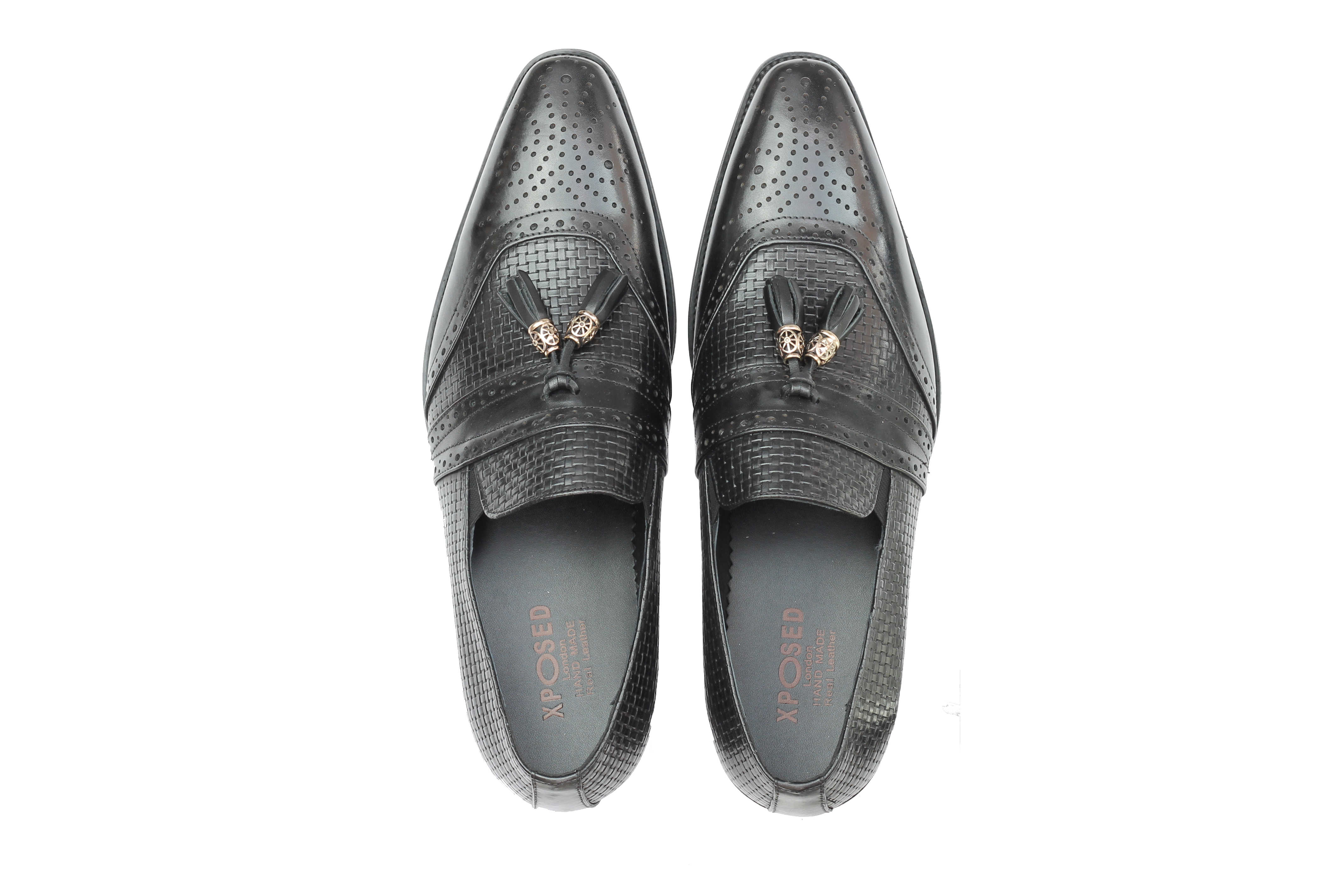 Mens-Real-Leather-Slip-on-Tassel-Loafers-High-Detailed-Smart-Dress-Party-Shoes thumbnail 7