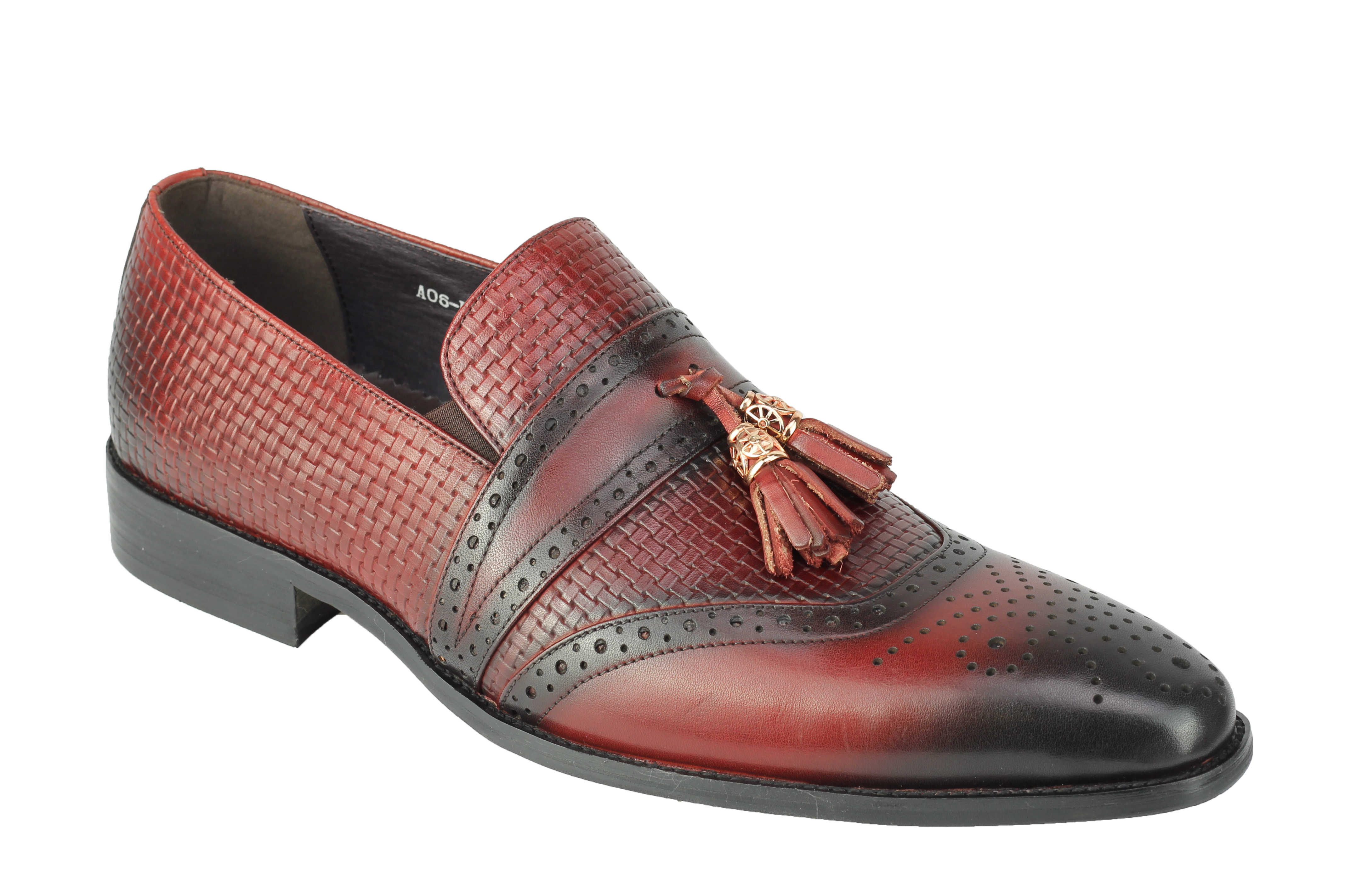 Mens-Real-Leather-Slip-on-Tassel-Loafers-High-Detailed-Smart-Dress-Party-Shoes thumbnail 9