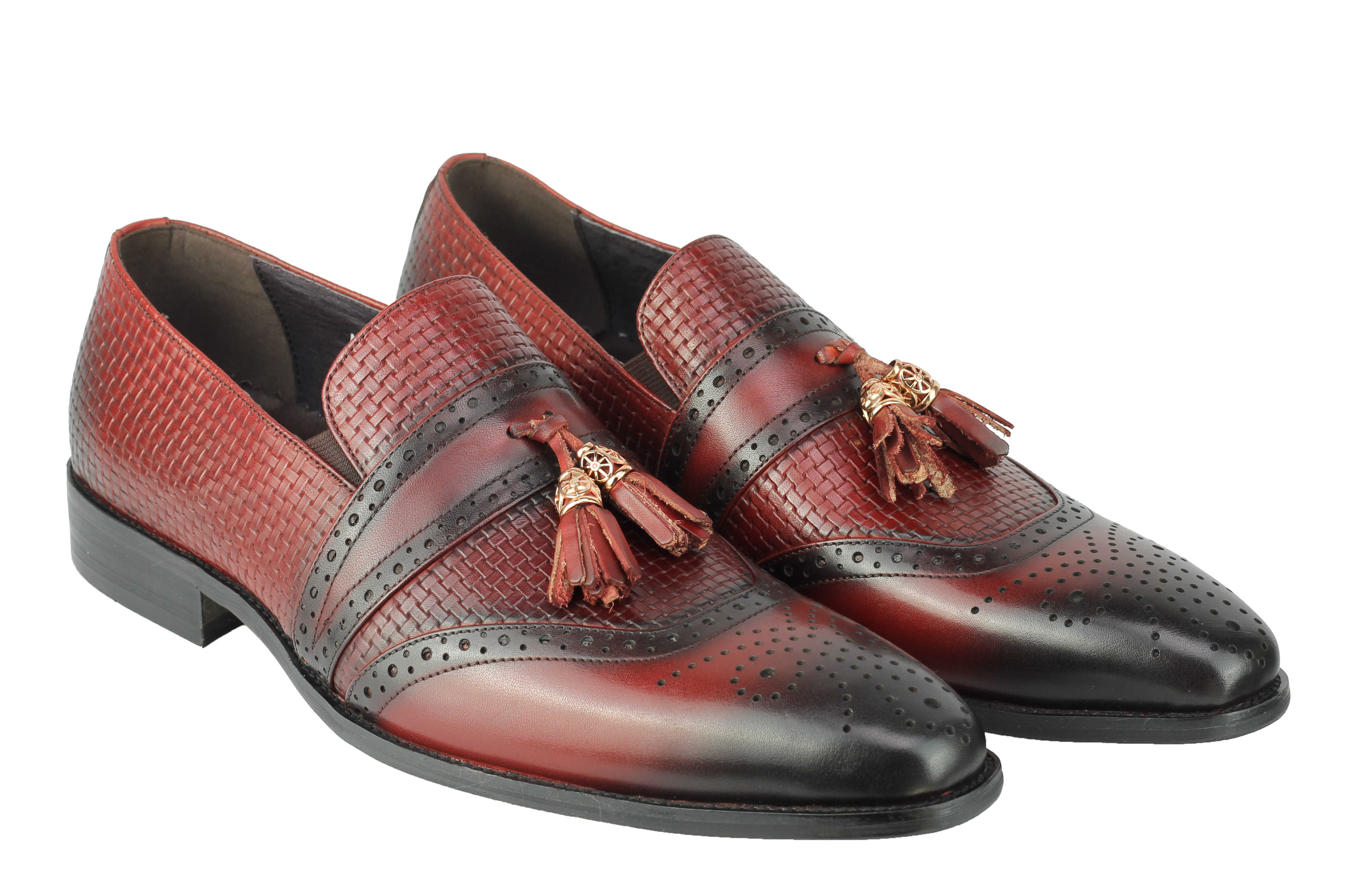 Mens-Real-Leather-Slip-on-Tassel-Loafers-High-Detailed-Smart-Dress-Party-Shoes thumbnail 10