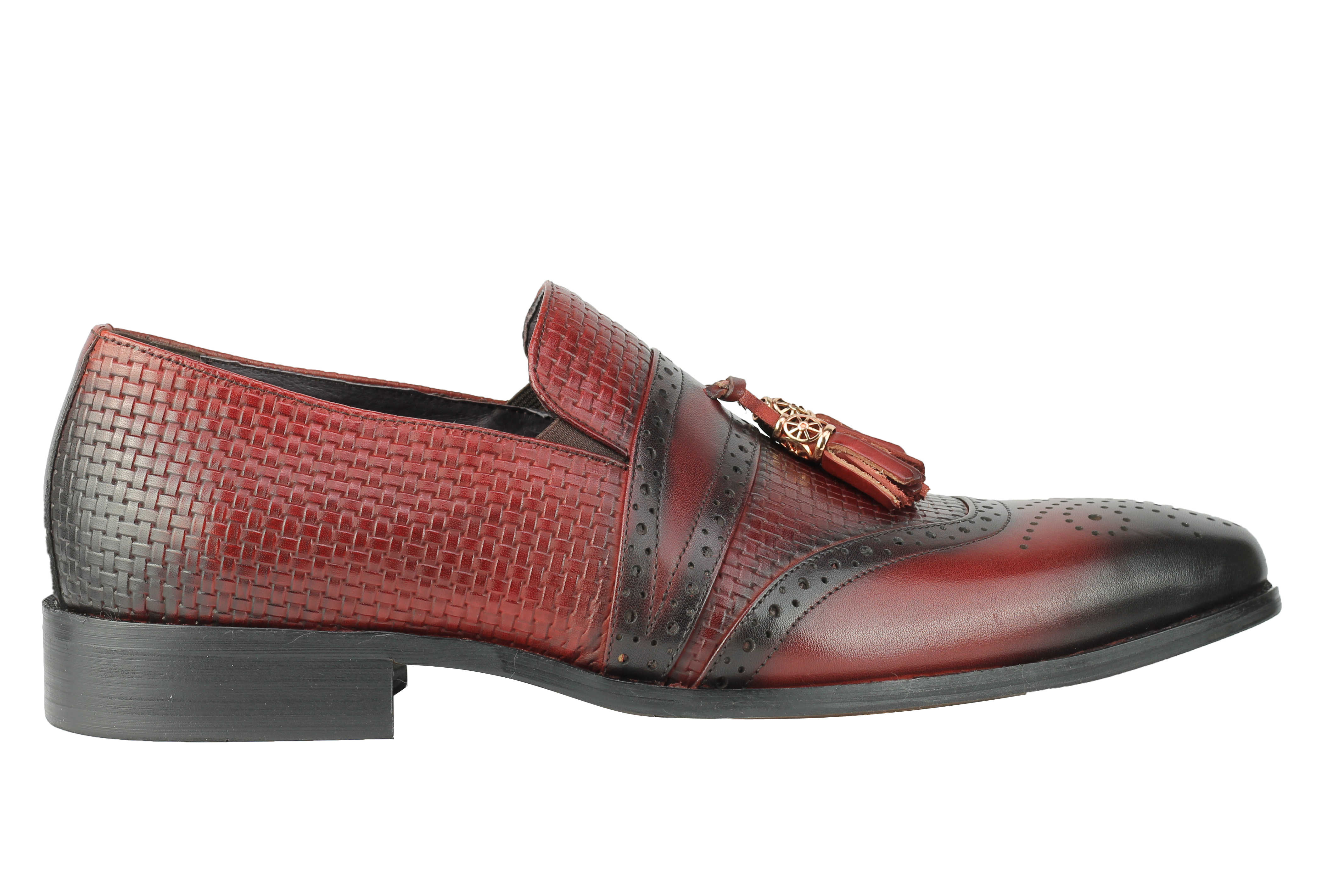 Mens-Real-Leather-Slip-on-Tassel-Loafers-High-Detailed-Smart-Dress-Party-Shoes thumbnail 11