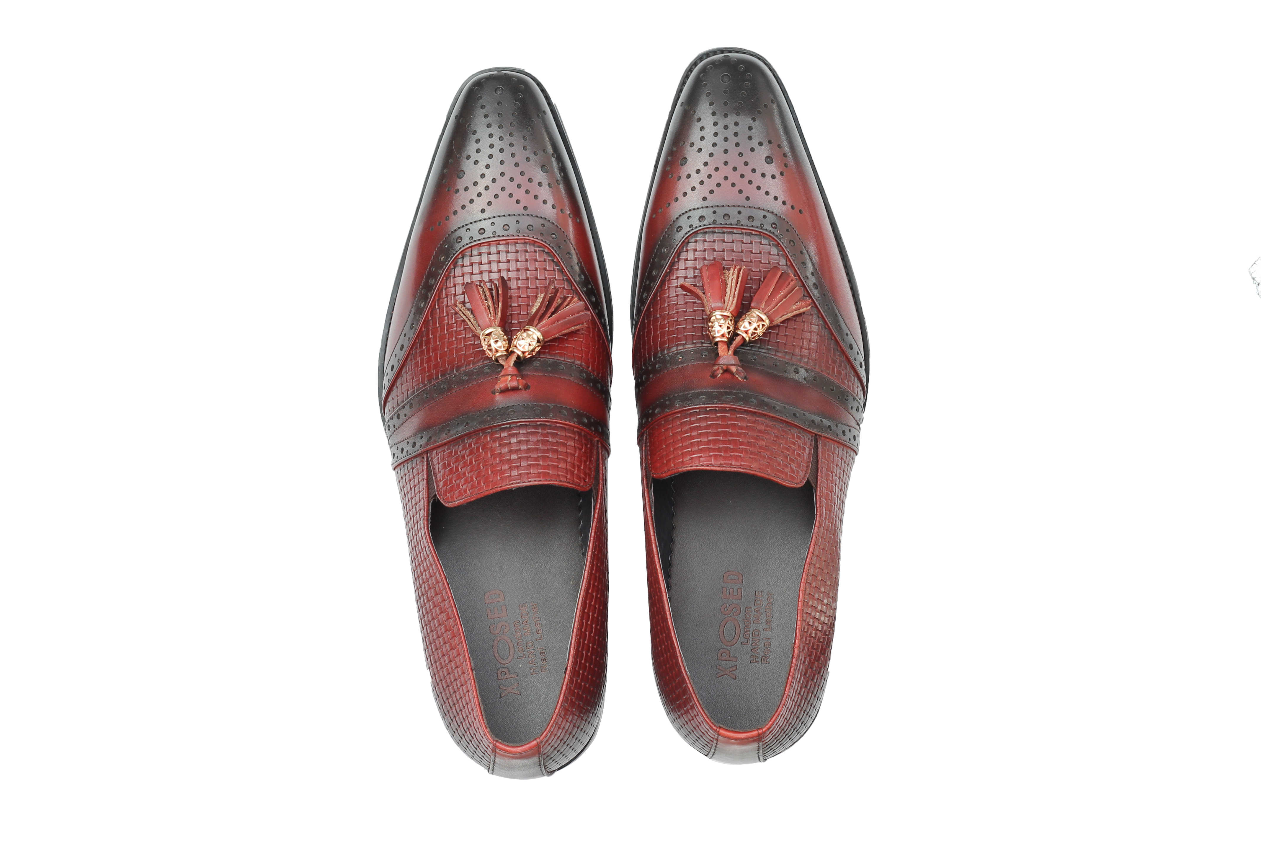 Mens-Real-Leather-Slip-on-Tassel-Loafers-High-Detailed-Smart-Dress-Party-Shoes thumbnail 14
