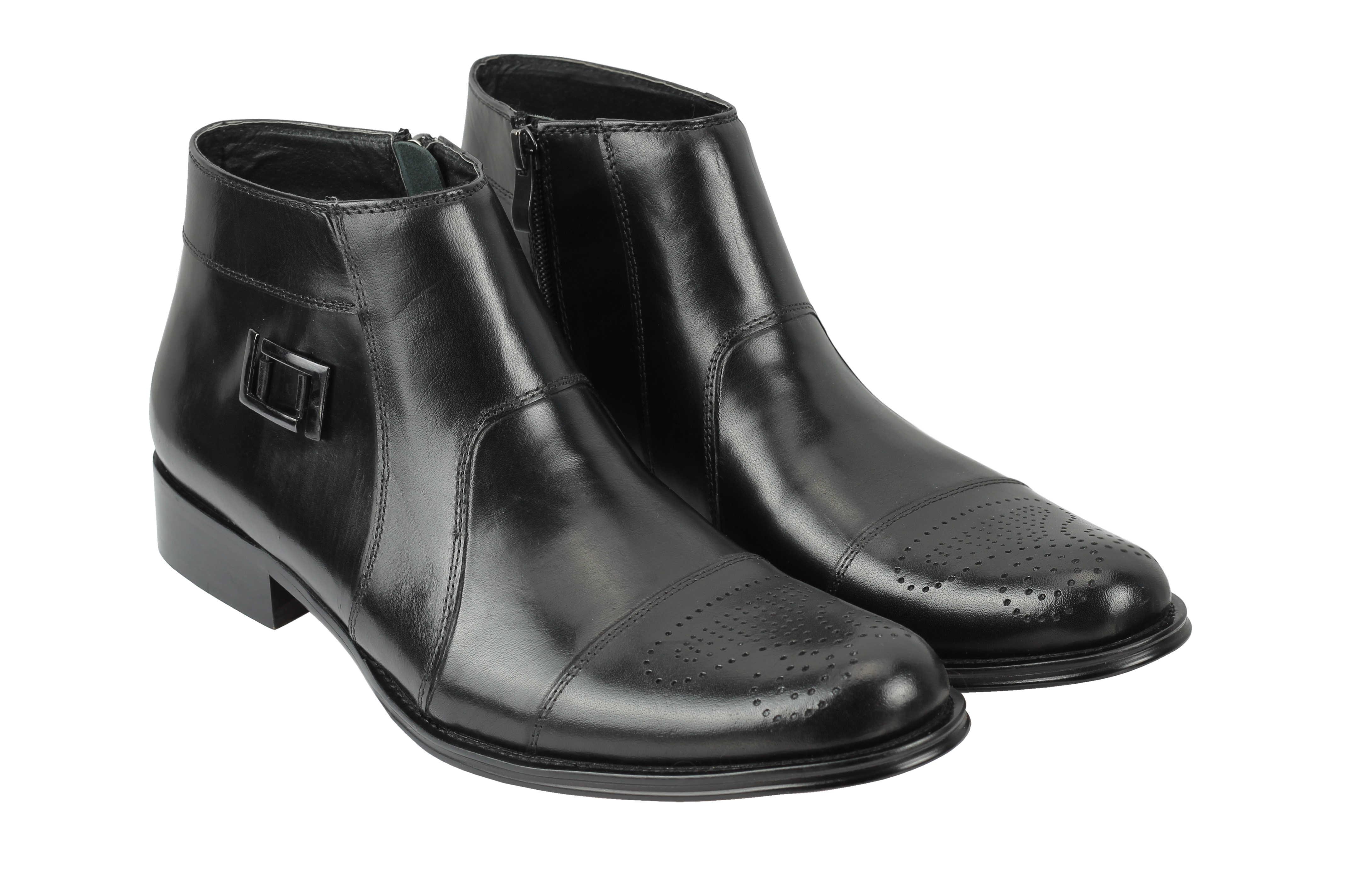 sale retailer 0b1e7 d4e1d ... Uomo vera pelle pelle pelle Stivali Smart Vintage Caviglia Zip CALATA  Scarpe in Nero Marrone dd42cd ...