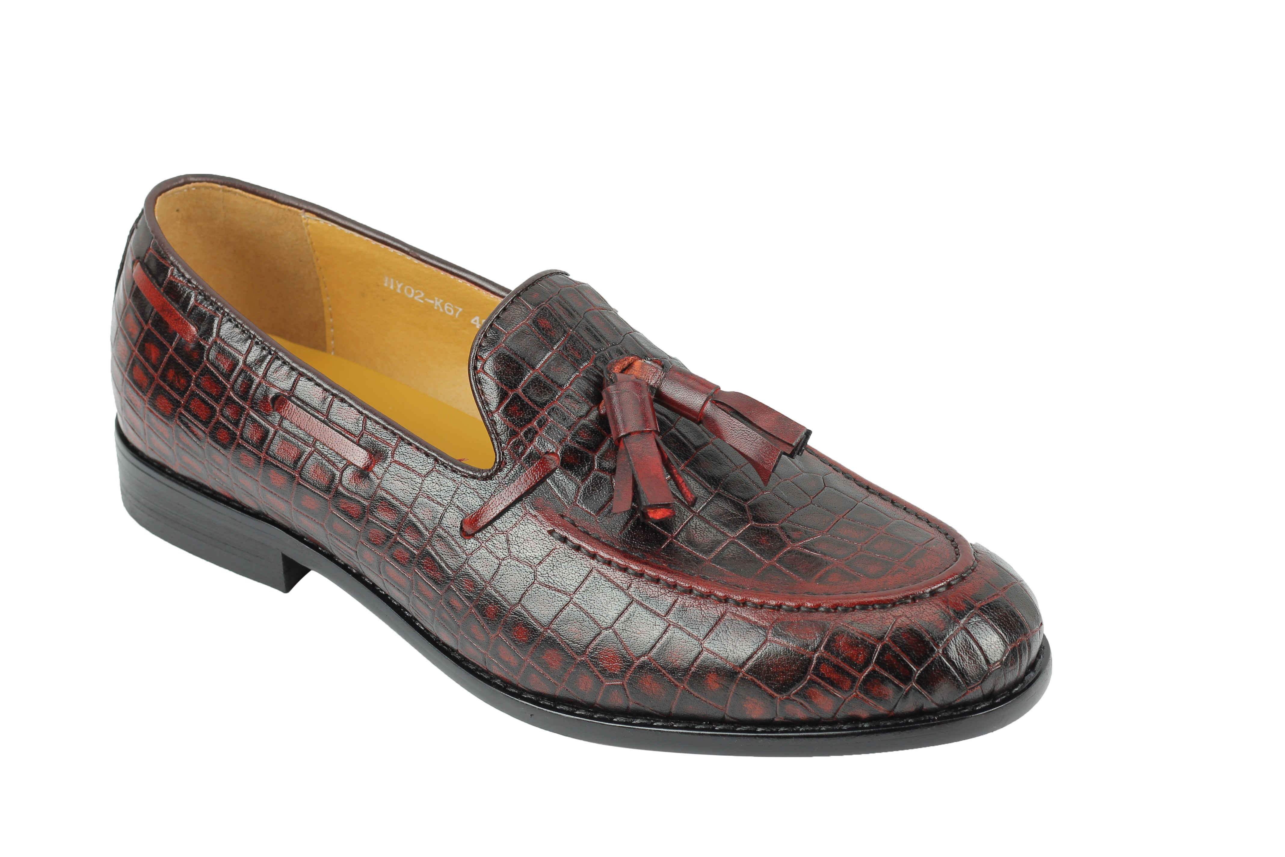 Herren Real Leder Tassel Loafers Vintage Smart Casual Retro MOD Schuhes UK Größe 4eb271