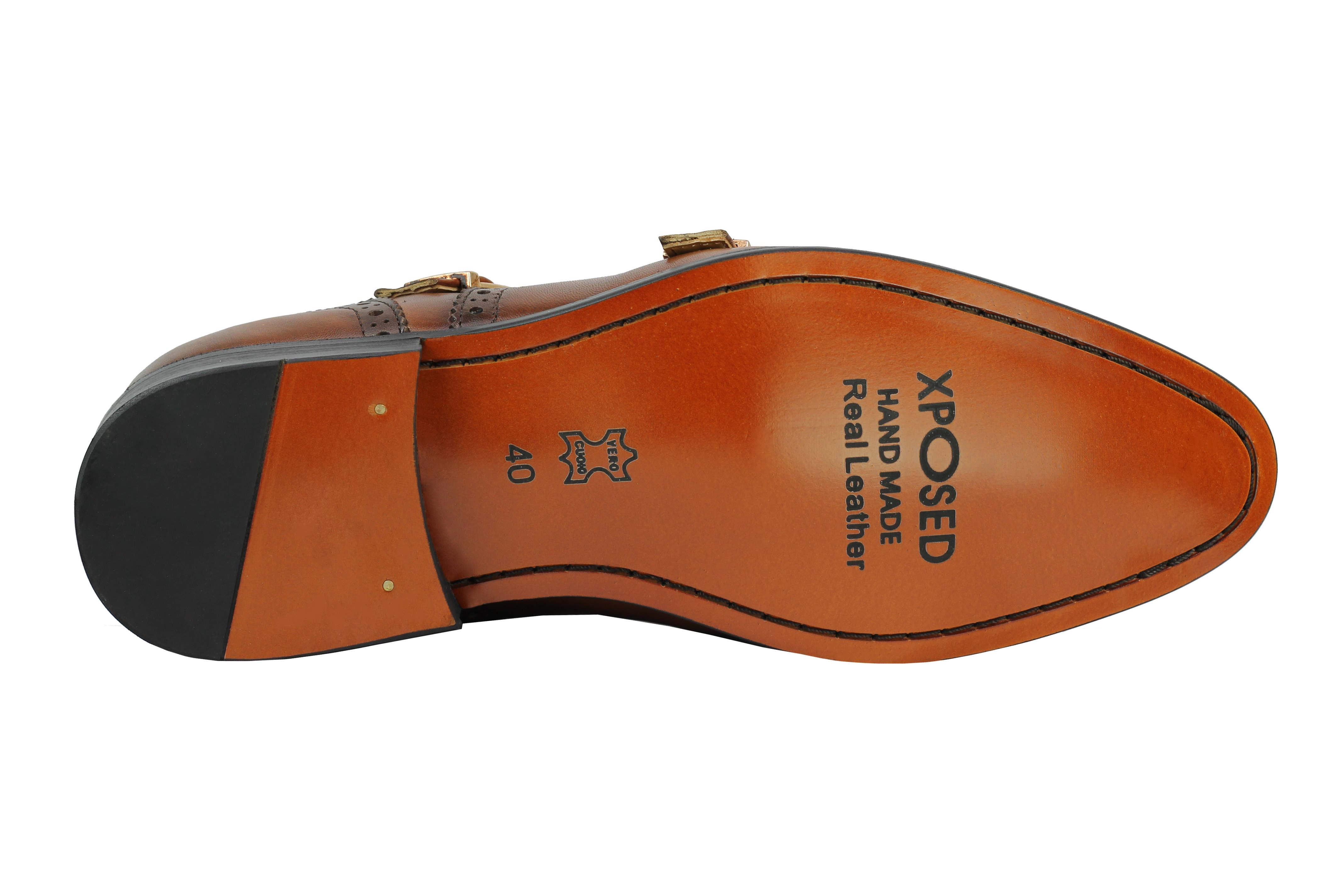 Vintage-pour-homme-Noir-Marron-En-Cuir-Veritable-Richelieu-a-Moine-Chaussures-elegant-Formel-Lacet miniature 12