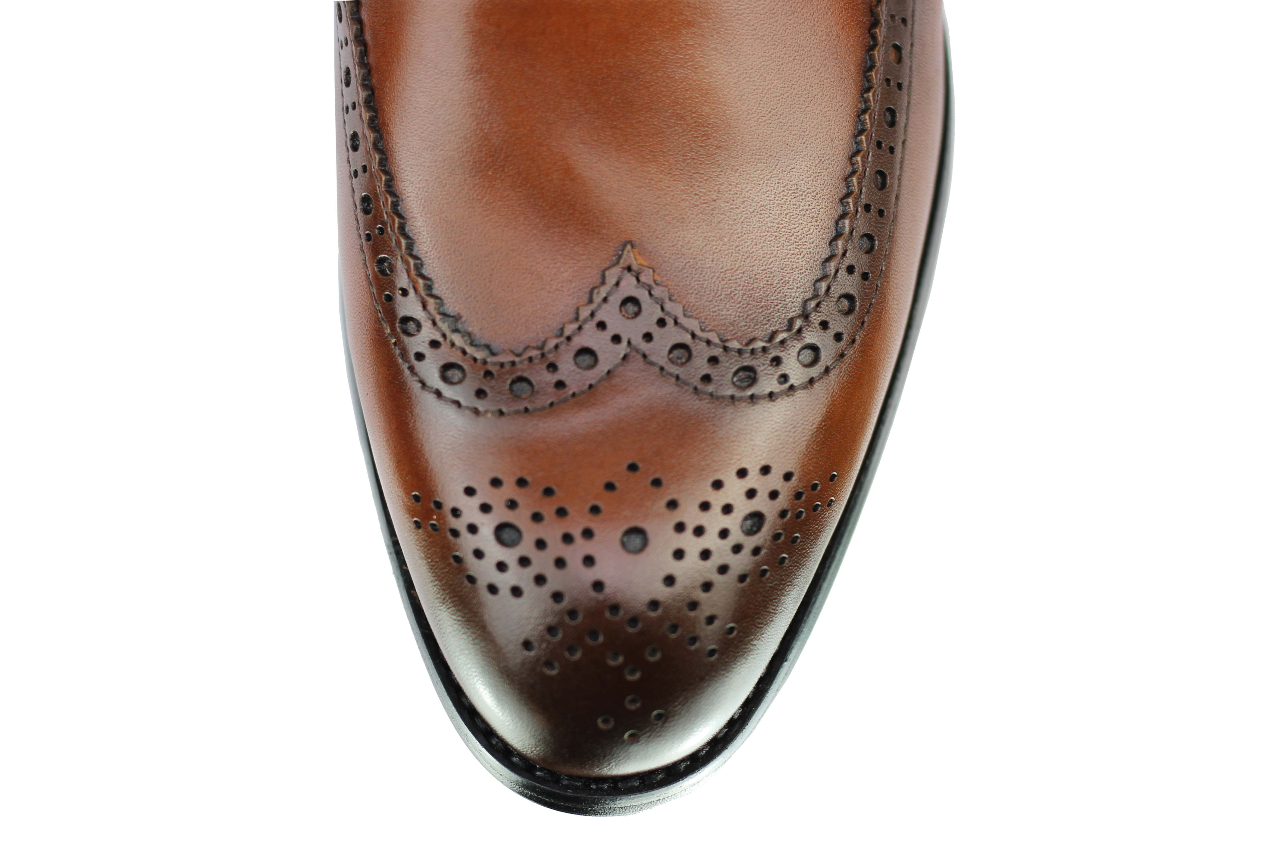 Vintage-pour-homme-Noir-Marron-En-Cuir-Veritable-Richelieu-a-Moine-Chaussures-elegant-Formel-Lacet miniature 14