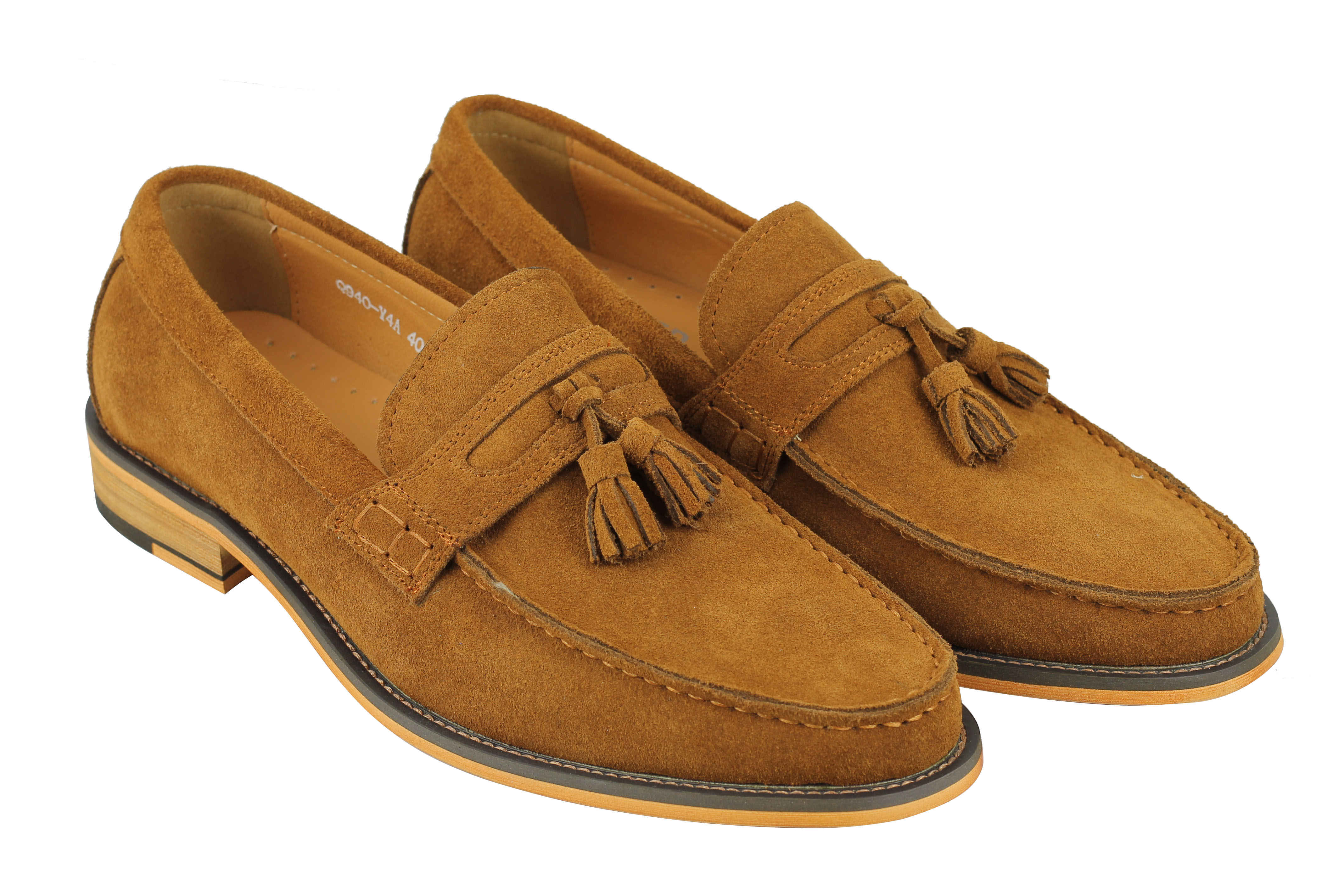 Mens Retro 100% Real Suede Leather Penny Loafers Vintage ...