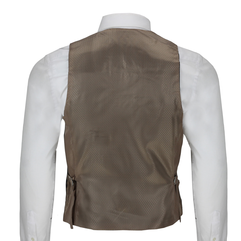 Mens-Azul-Tweed-cheque-3-Piezas-Traje-Chaqueta-Pantalon-Chaleco-se-vende-como-por-separado miniatura 17