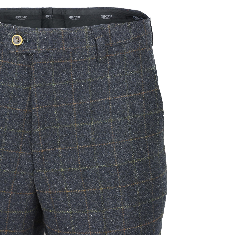 Mens-Azul-Tweed-cheque-3-Piezas-Traje-Chaqueta-Pantalon-Chaleco-se-vende-como-por-separado miniatura 7