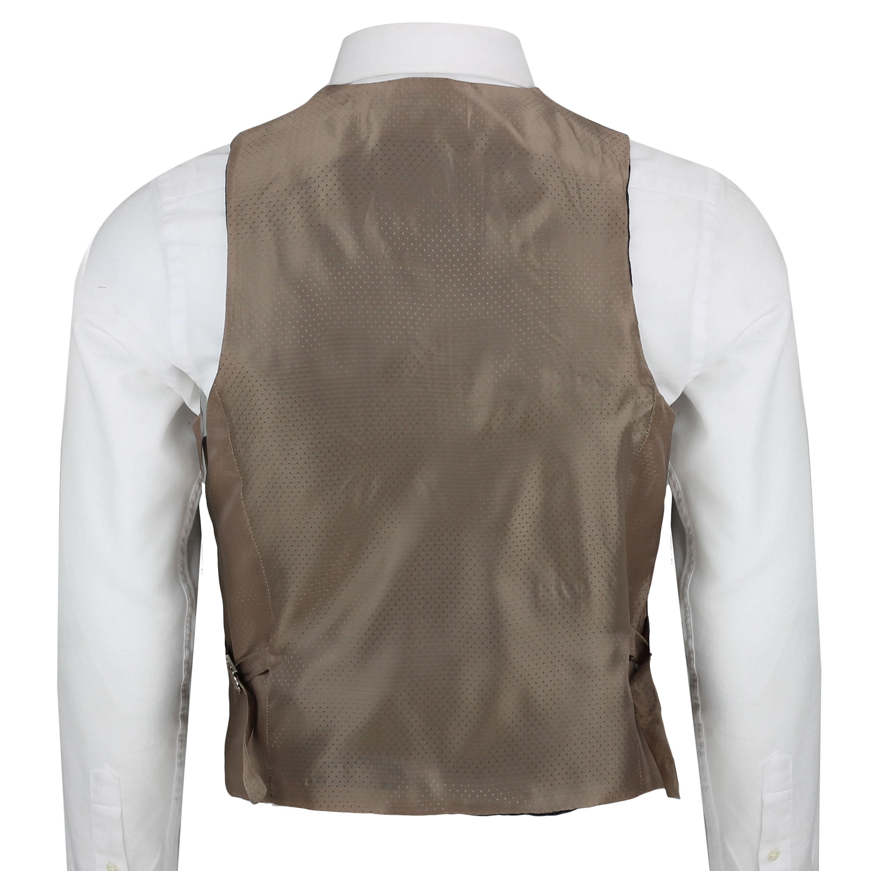 Mens-Azul-Tweed-cheque-3-Piezas-Traje-Chaqueta-Pantalon-Chaleco-se-vende-como-por-separado miniatura 21