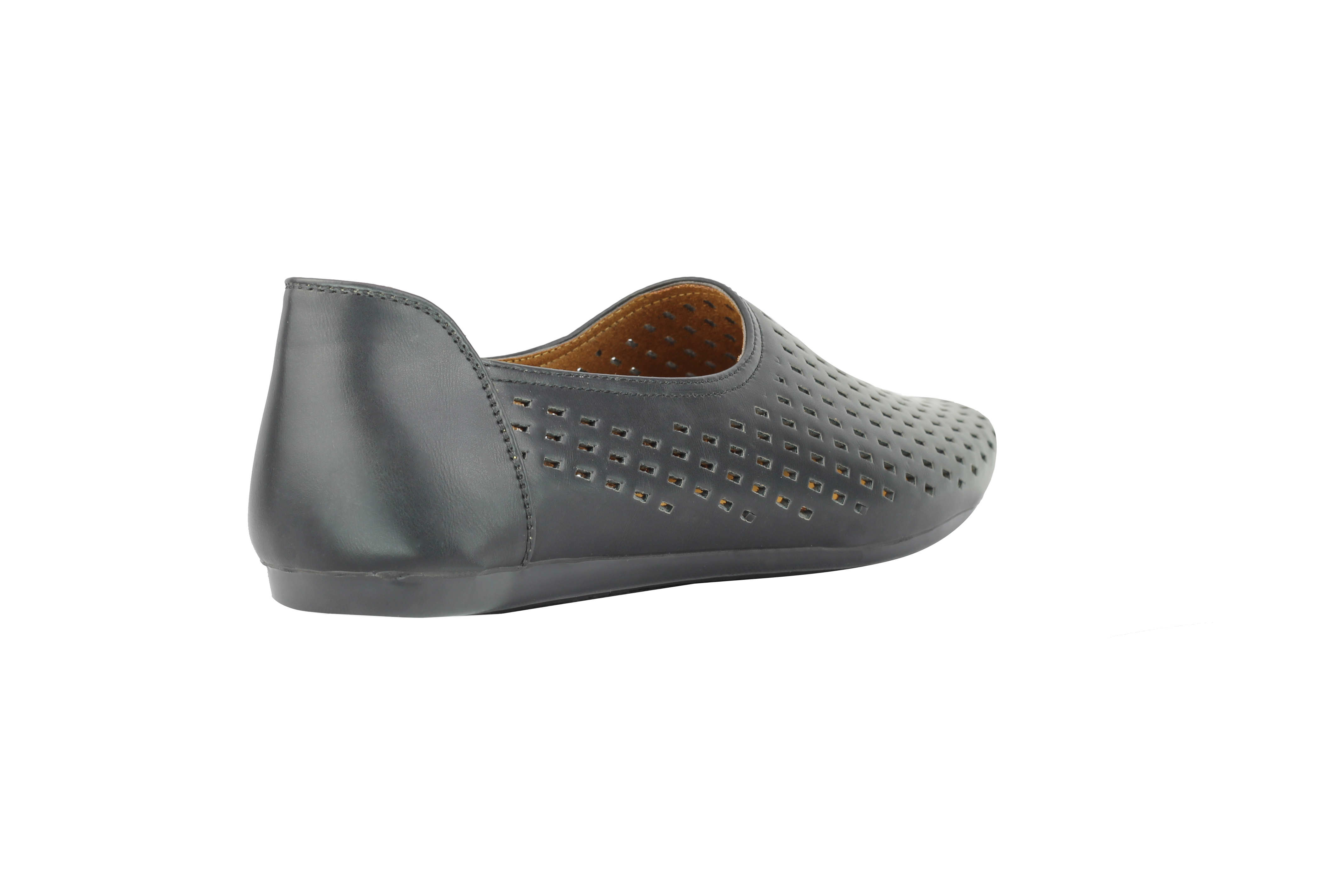 Mens Faux Leather Perforated Holes Loafers Summer Slip on Flat Soles Moccasins Shoes
