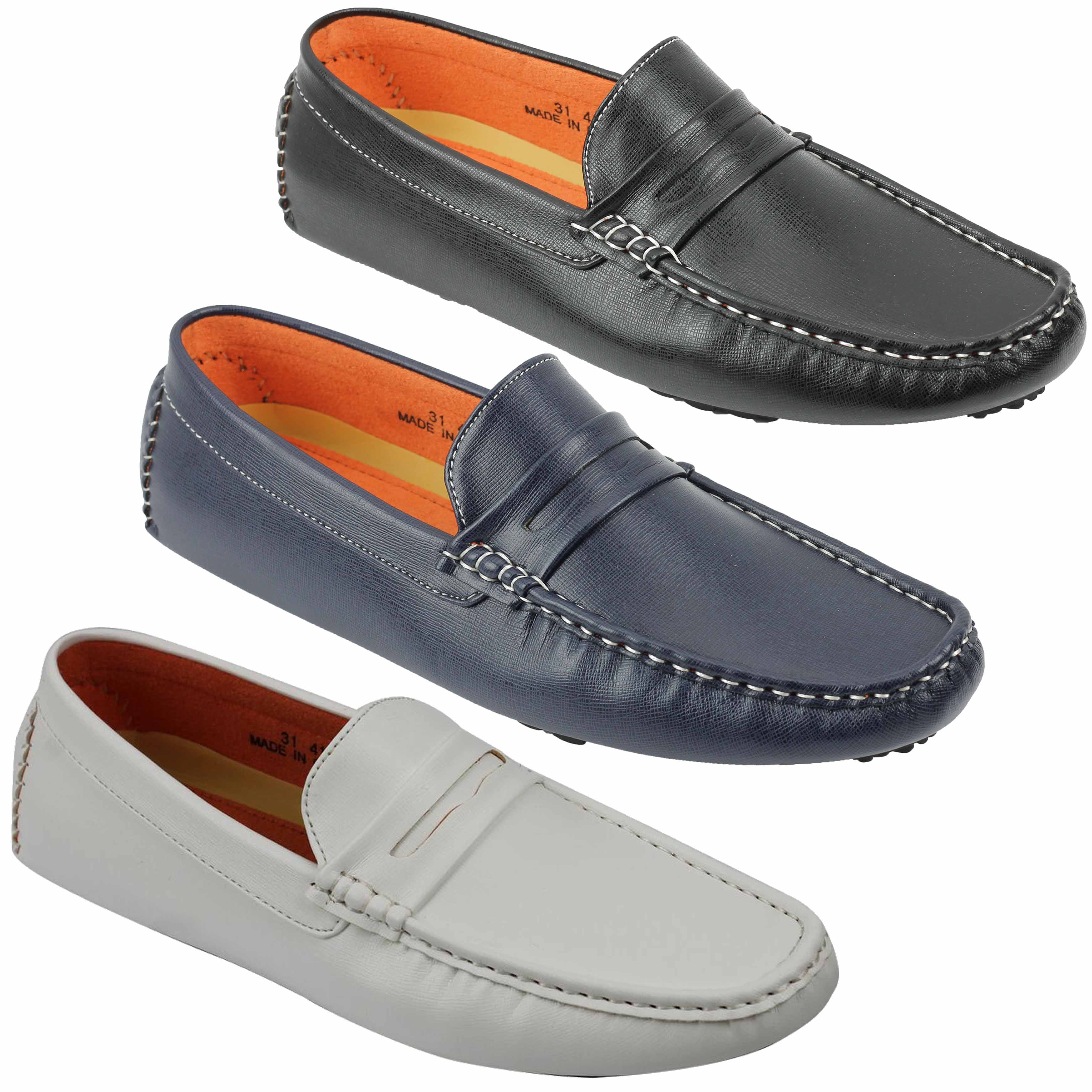 0e76a273174c8 Details about New Mens Faux Leather Slip on Penny Loafers Driving Shoes UK  Sizes 6 7 8 9 10 11