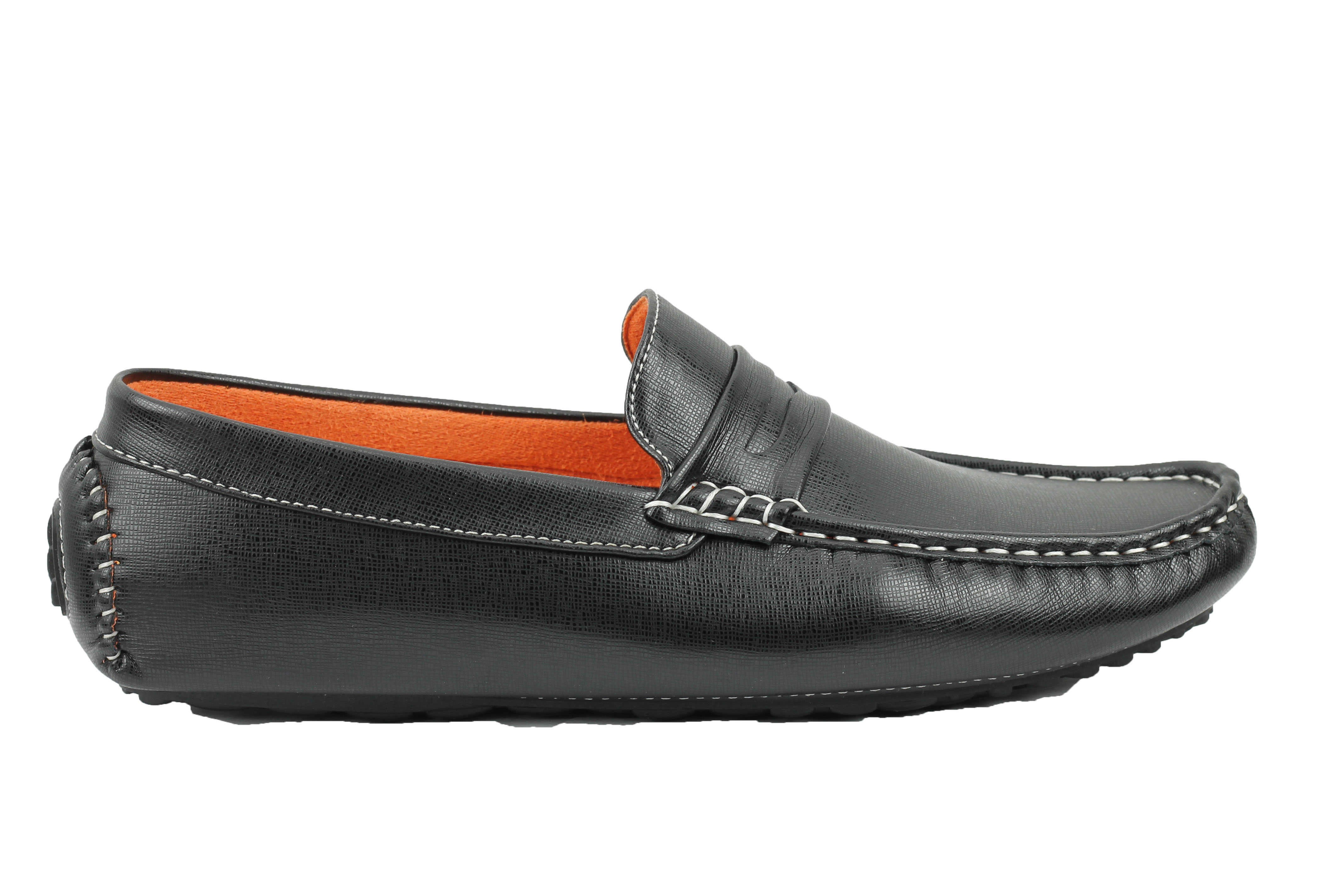 Mens Wide Black Boat Shoes