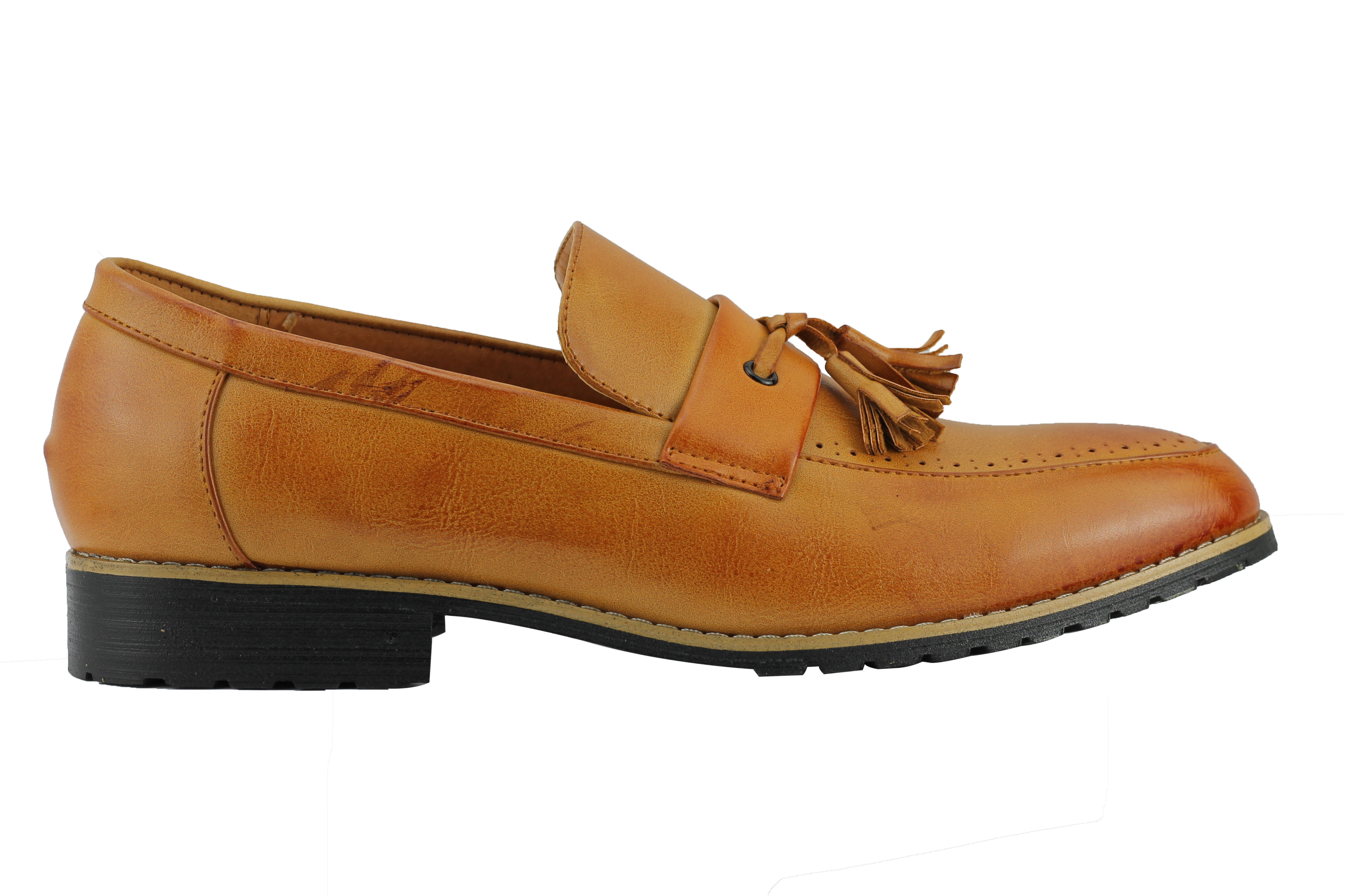 Mens-Leather-Lined-Maroon-Black-Tassel-Loafer-Smart-Casual-Slip-on-Driving-Shoes thumbnail 15