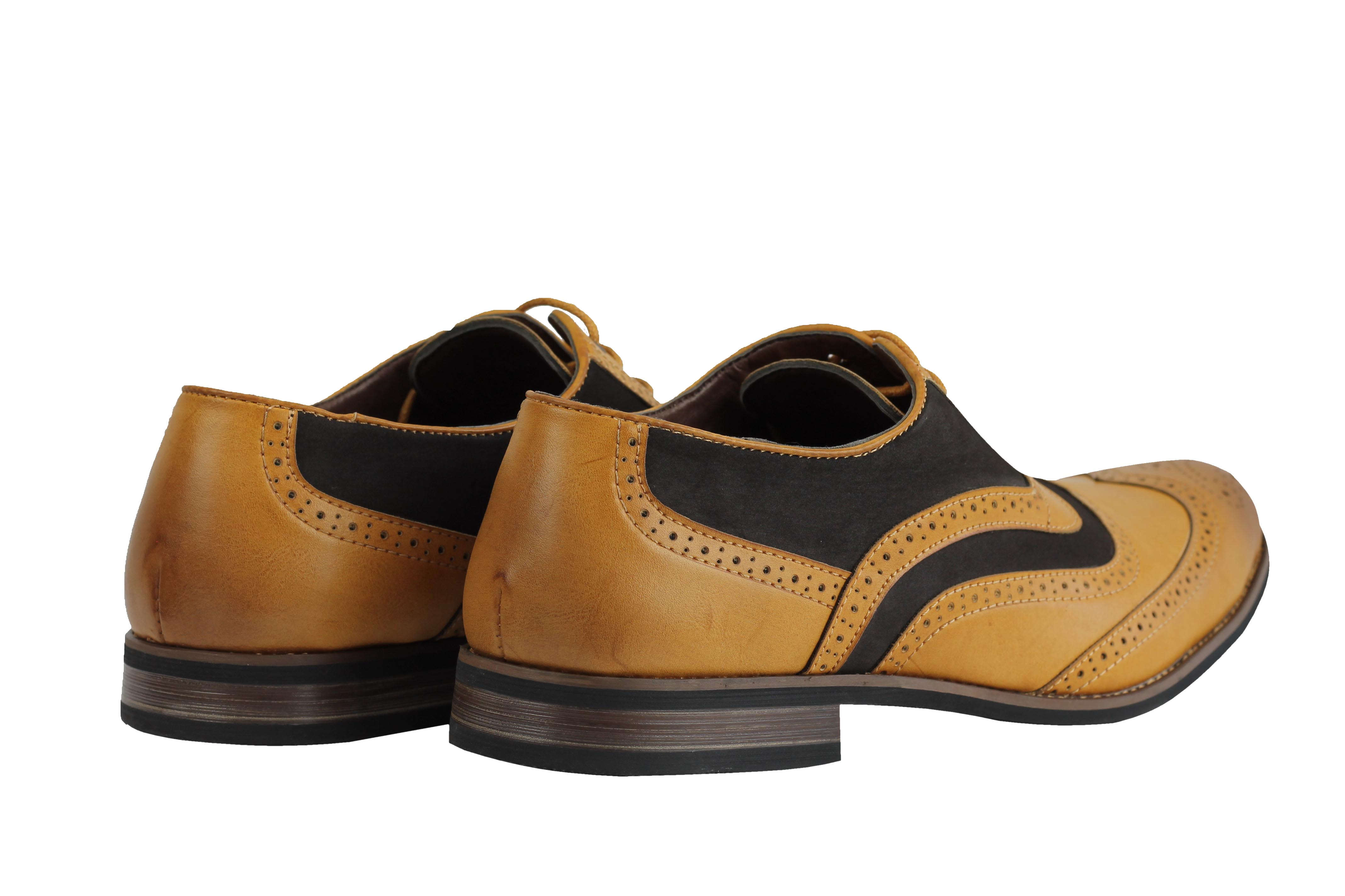 Mens-Retro-Vintage-Wing-Tip-Leather-Brogue-Smart-Casual-Office-Shoes-UK-Sizes thumbnail 12