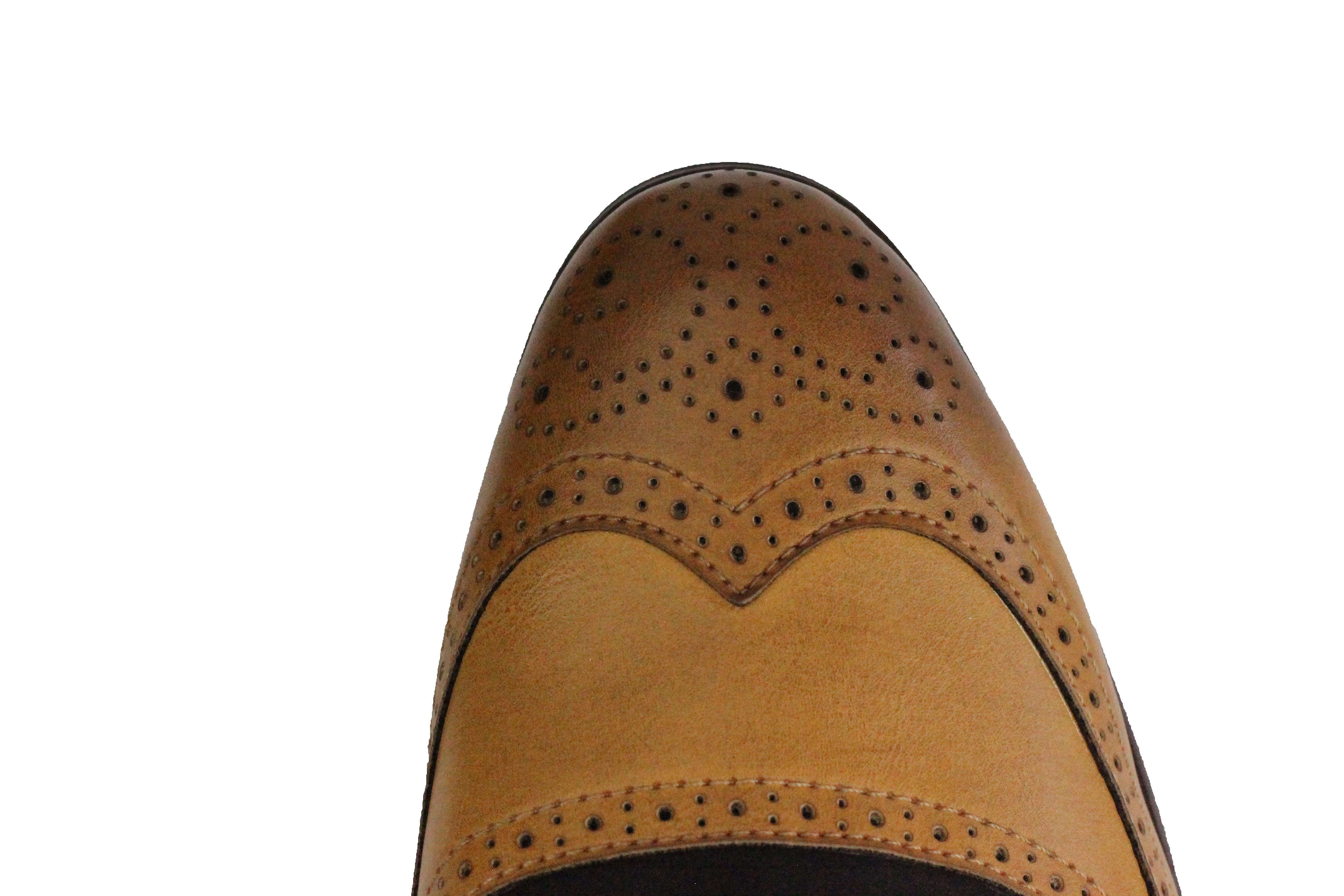 Mens-Retro-Vintage-Wing-Tip-Leather-Brogue-Smart-Casual-Office-Shoes-UK-Sizes thumbnail 13