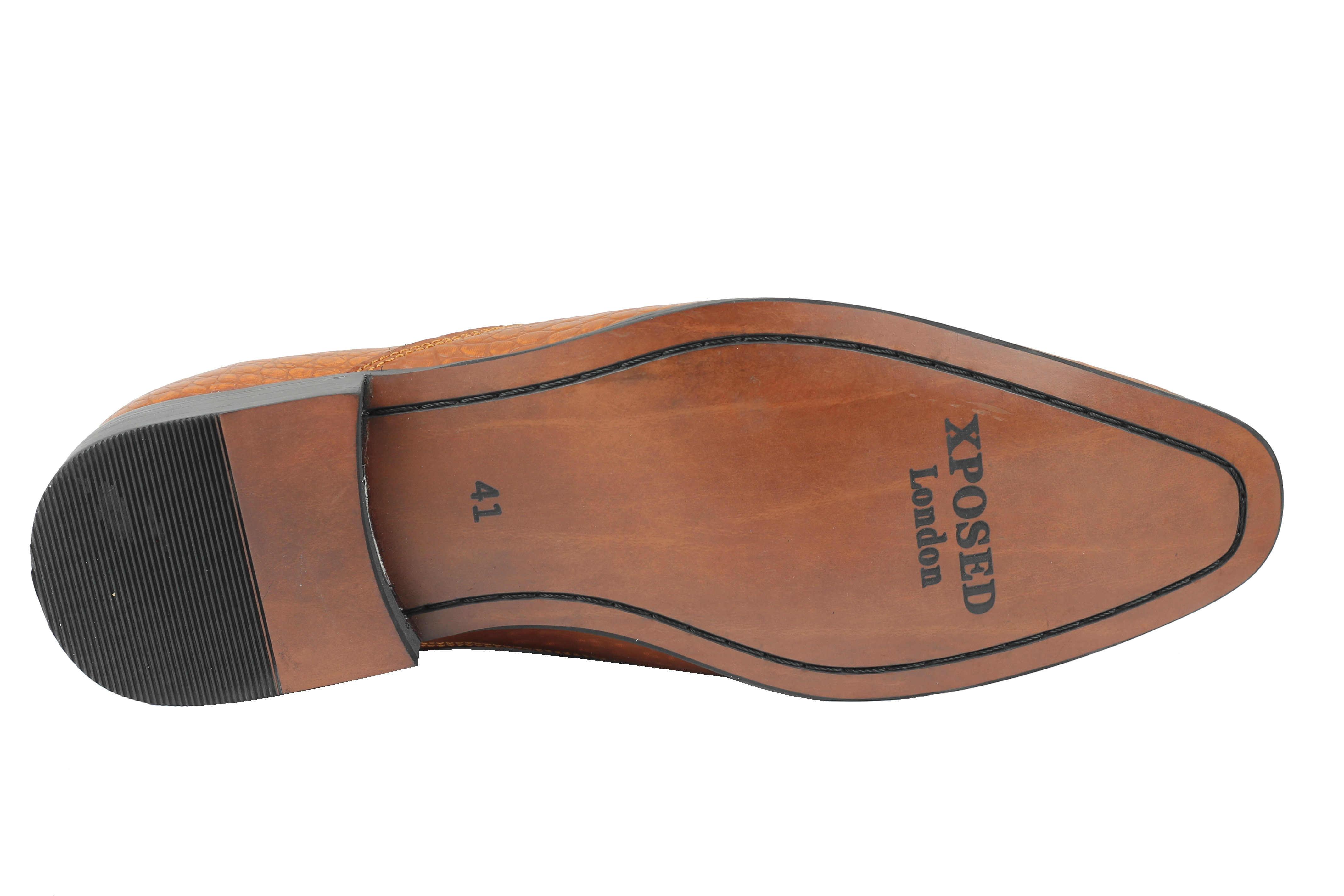 Da-Uomo-NERA-IN-PELLE-STAMPA-SERPENTE-Vintage-Nappa-Mocassini-Smart-Casual-Scarpe-Mod