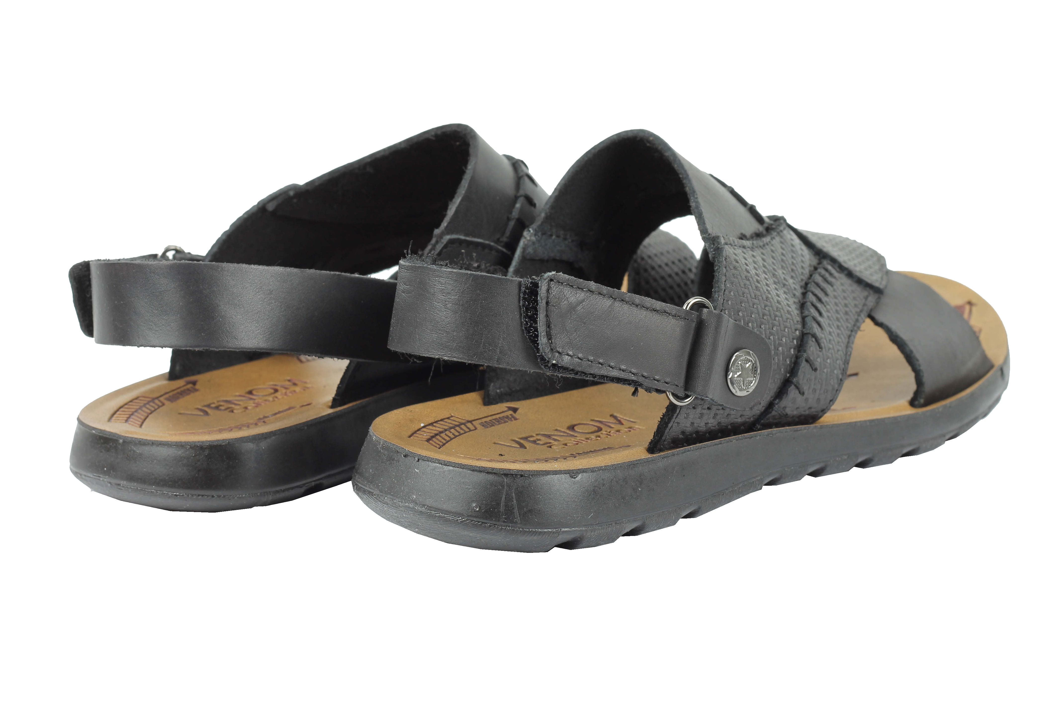c2b3d9753ad85 Mens Real Leather Walking Sandals Black Brown Beach Mules Size 6 7 8 ...