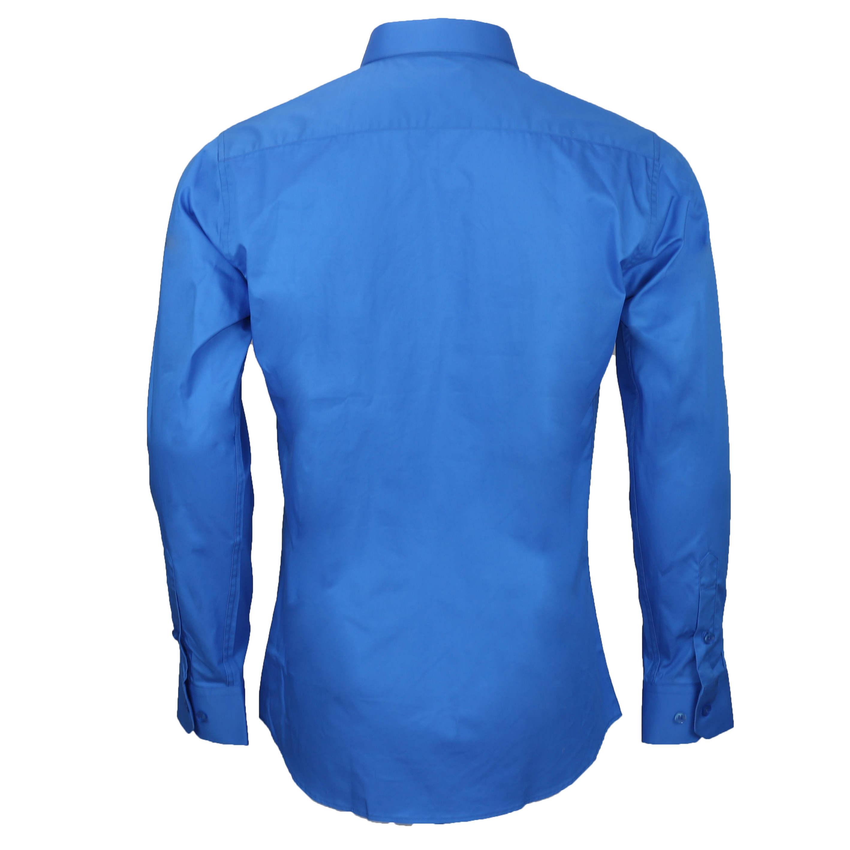 bd60e1a8e7d Mens Classic Cotton Slim Fit Dress Shirt Tie Hanky Gift Set Smart ...