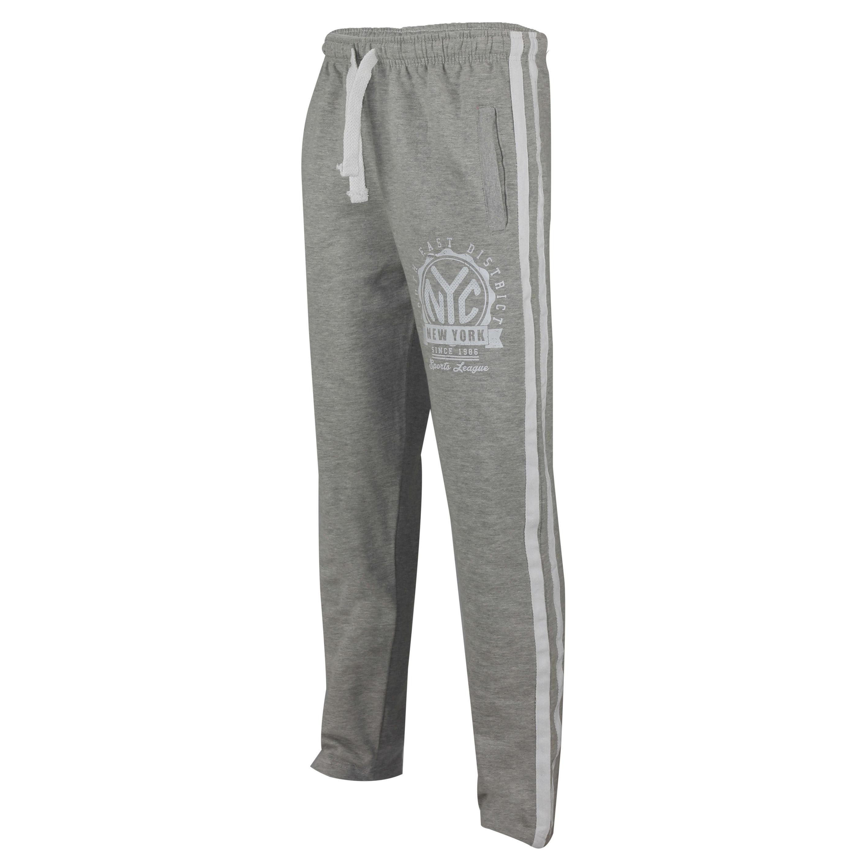 Da-Uomo-Tuta-Da-Ginnastica-Jogging-Bottoms-NYC-Pile-Pantaloni-sportivi-Sport-Palestra-attivo-Sudore