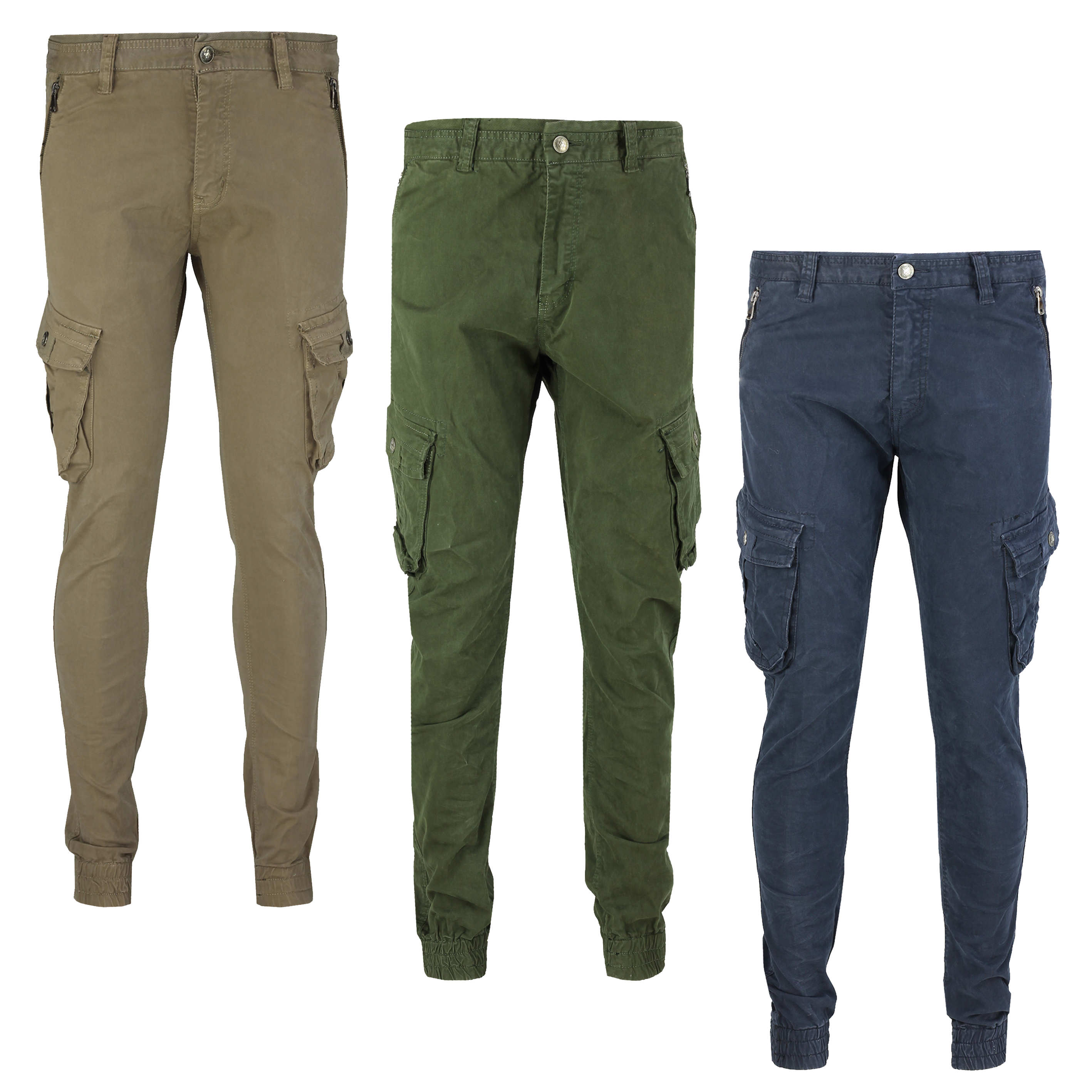 sells big sale cute cheap Details about Mens Cotton Stretch Combat Trousers Cargo Zip Pockets Jogger  Smart Casual Chinos