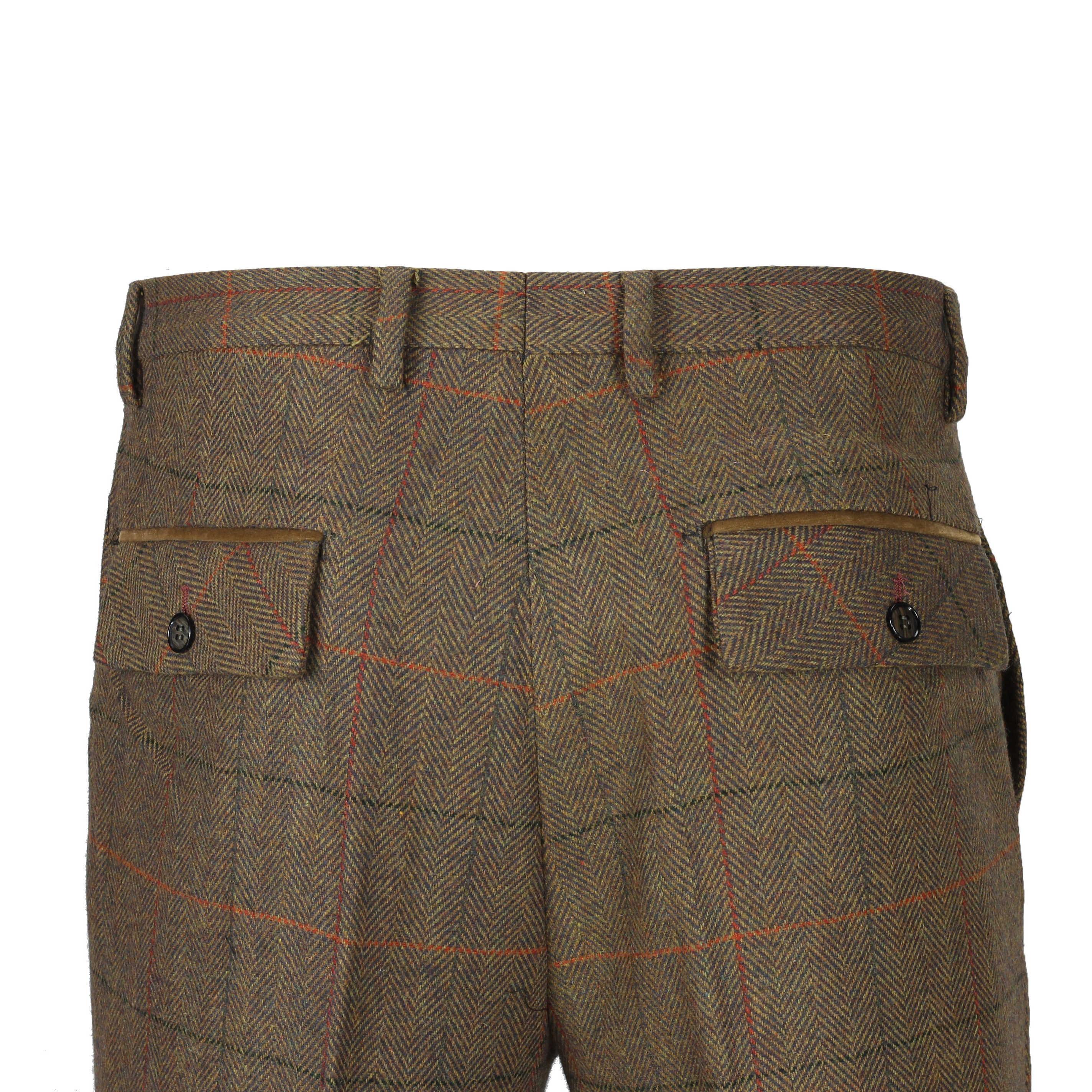 Mens-3-piezas-tan-comprueba-Herringbone-Traje-Blazer-Chaleco-Pantalones-Se-Venden-Por-Separado miniatura 12