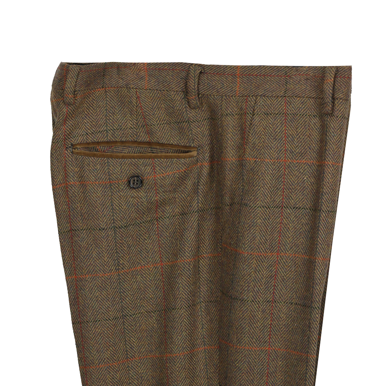 Mens-3-piezas-tan-comprueba-Herringbone-Traje-Blazer-Chaleco-Pantalones-Se-Venden-Por-Separado miniatura 13