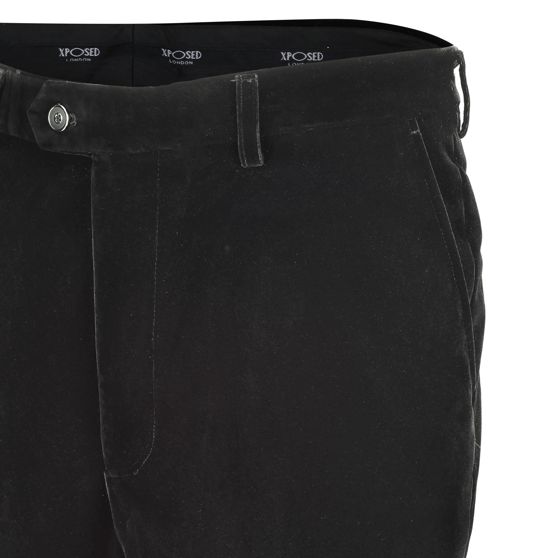 Para-hombre-negro-terciopelo-vintage-3-Piezas-Traje-Blazer-Chaleco-del-pantalon-se-vende-por miniatura 7
