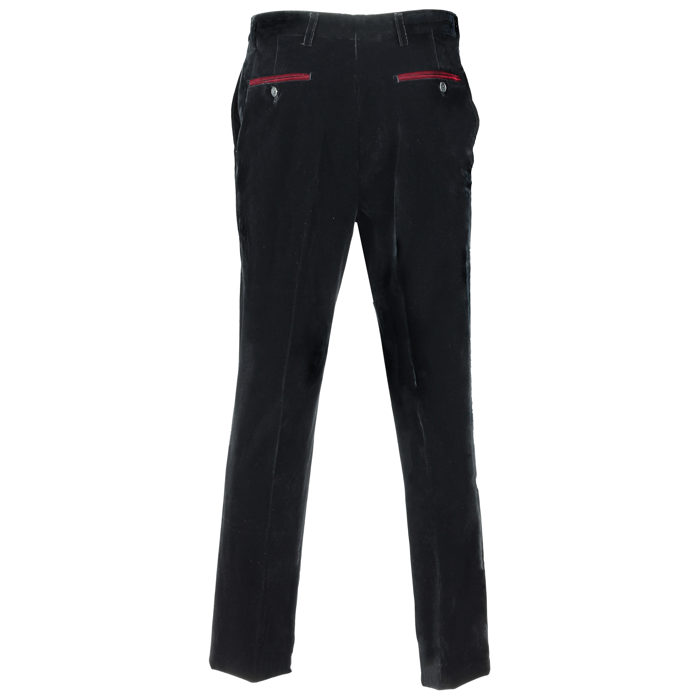 Para-hombre-negro-terciopelo-vintage-3-Piezas-Traje-Blazer-Chaleco-del-pantalon-se-vende-por miniatura 8