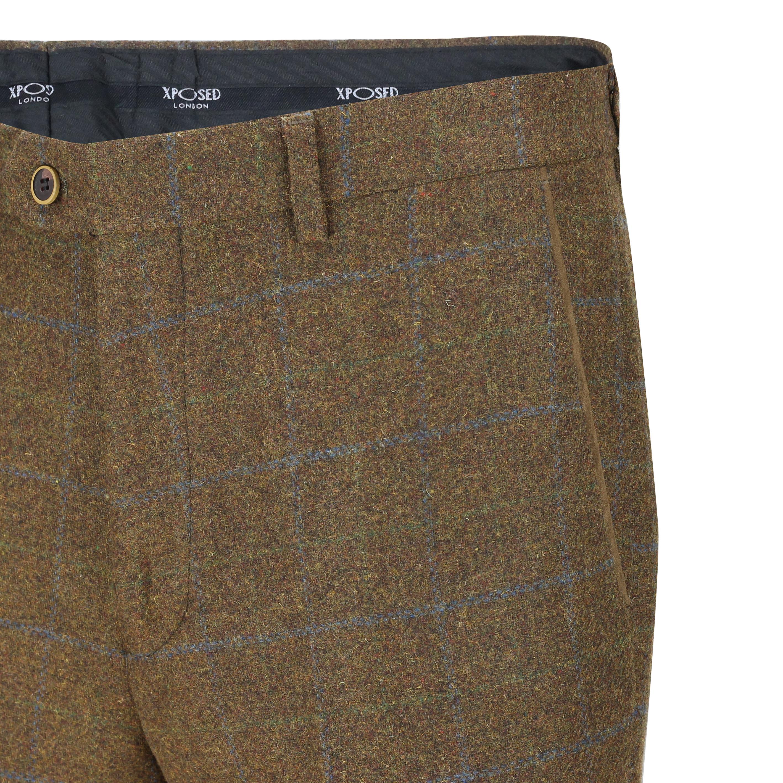 Hombres-Tweed-cheque-3-Piezas-Traje-Chaqueta-Pantalon-Chaleco-se-vende-como-medida-separa miniatura 8