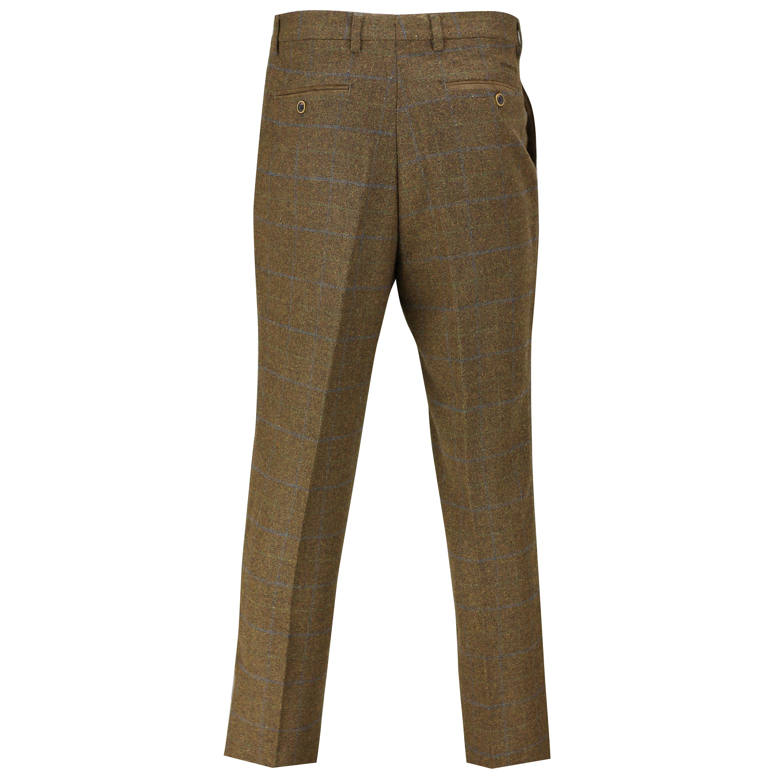Hombres-Tweed-cheque-3-Piezas-Traje-Chaqueta-Pantalon-Chaleco-se-vende-como-medida-separa miniatura 9