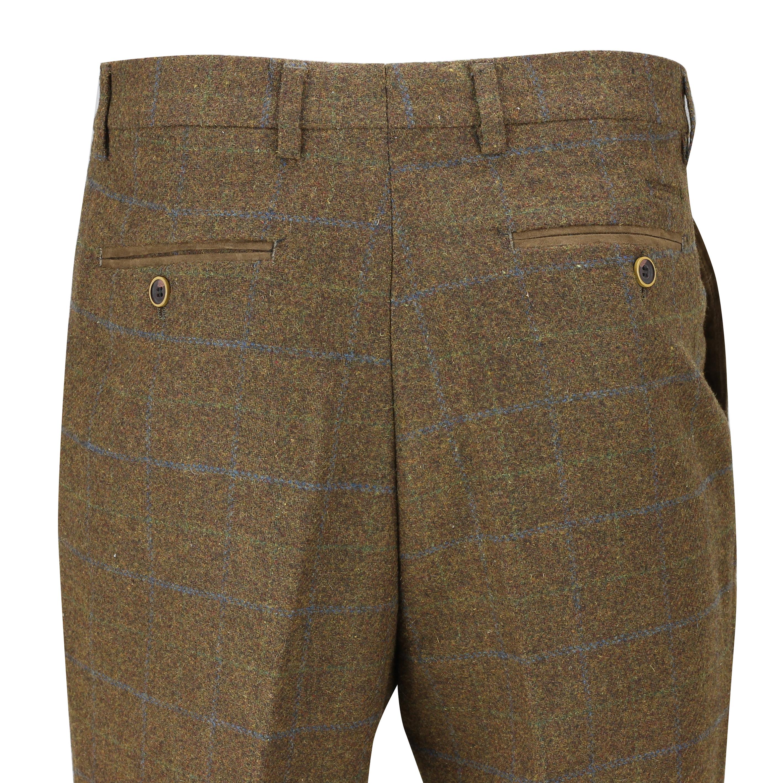 Hombres-Tweed-cheque-3-Piezas-Traje-Chaqueta-Pantalon-Chaleco-se-vende-como-medida-separa miniatura 10
