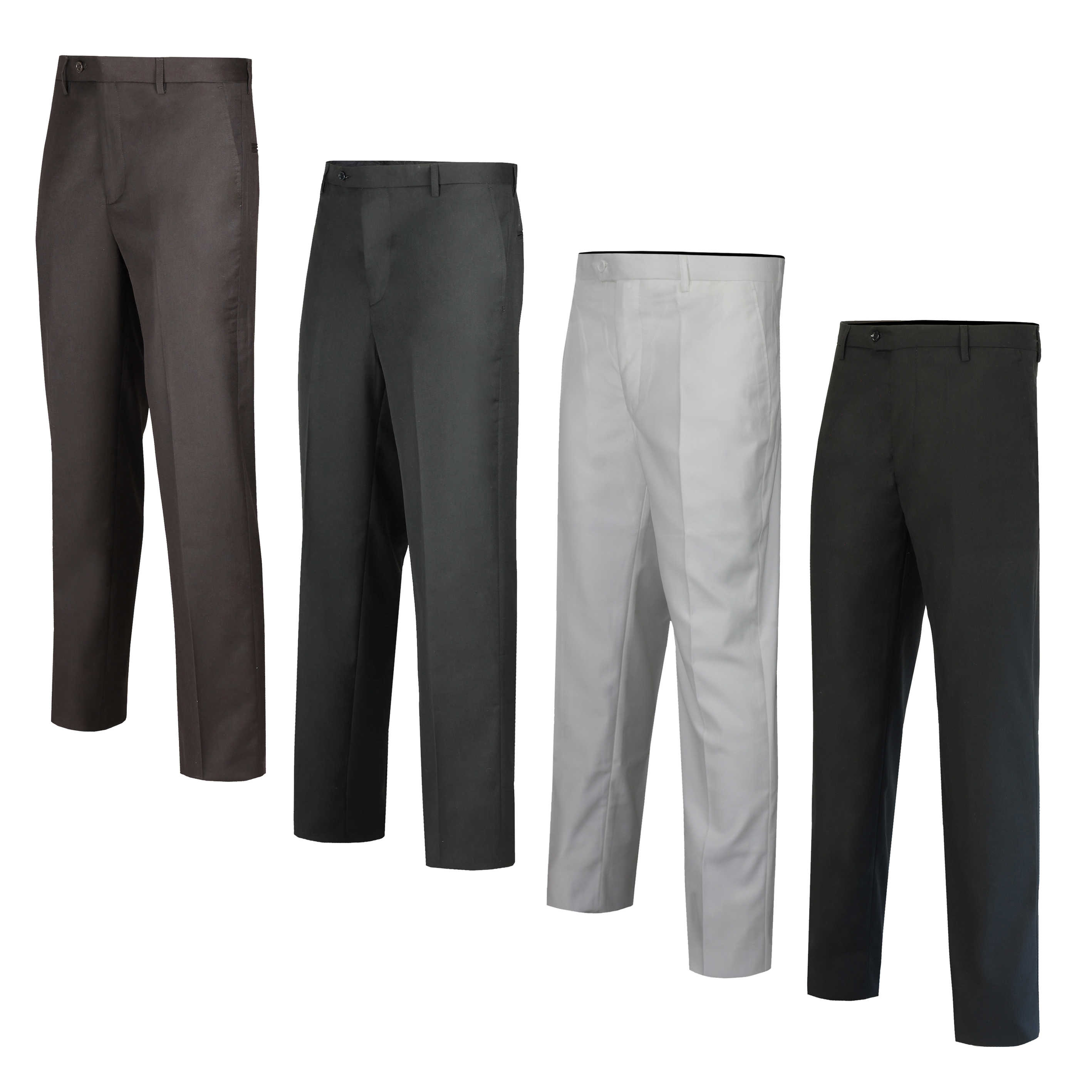 Mens Office Trousers Formal Smart Casual Work Trousers Business Dress Pants