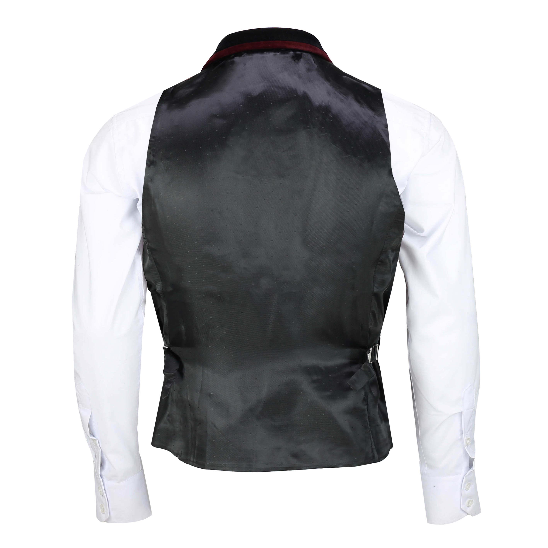 Para-hombre-negro-terciopelo-vintage-3-Piezas-Traje-Blazer-Chaleco-del-pantalon-se-vende-por miniatura 17