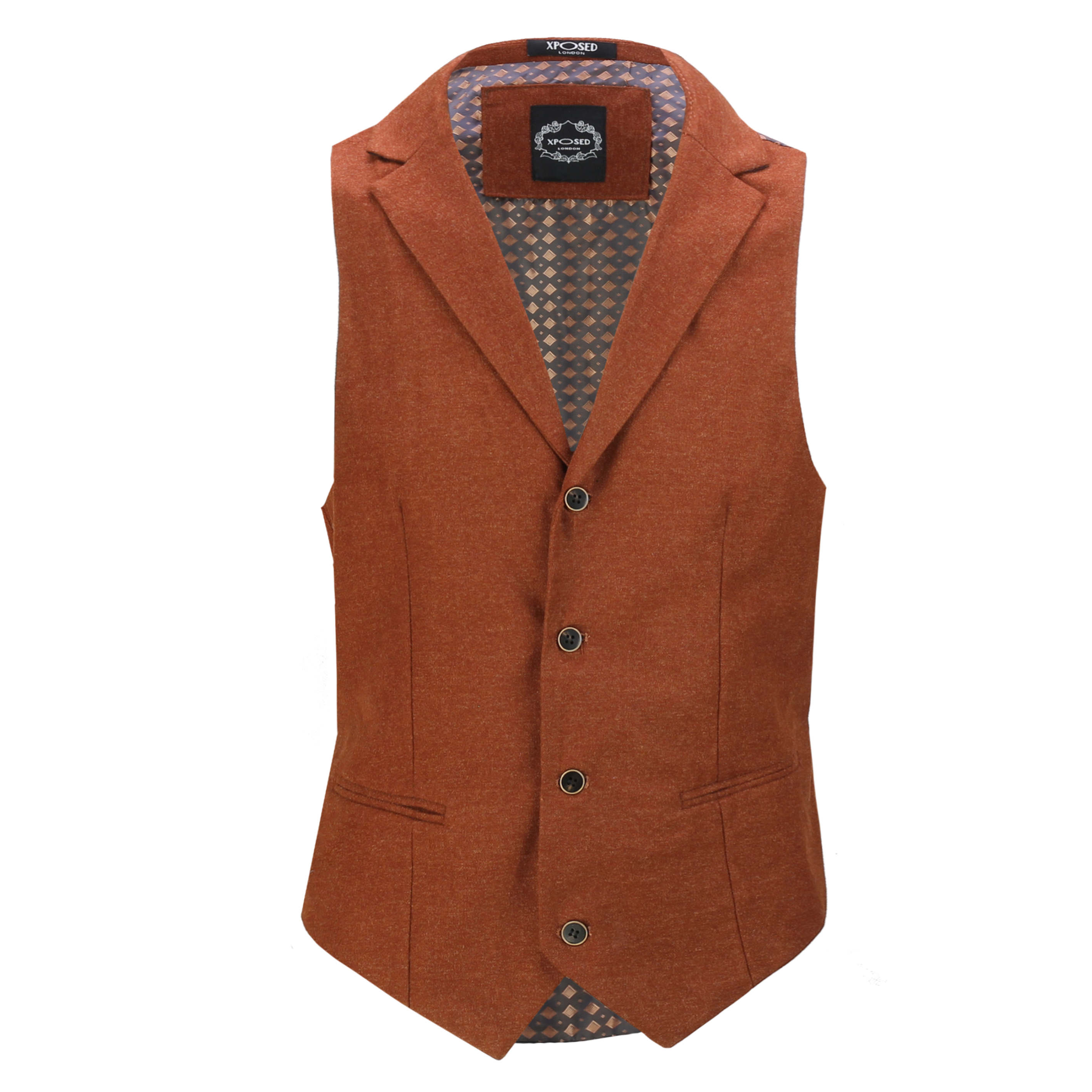Mens-Classic-Collar-Waistcoat-Retro-Vintage-Style-Tailored-Fit-Smart-Formal-Vest thumbnail 21