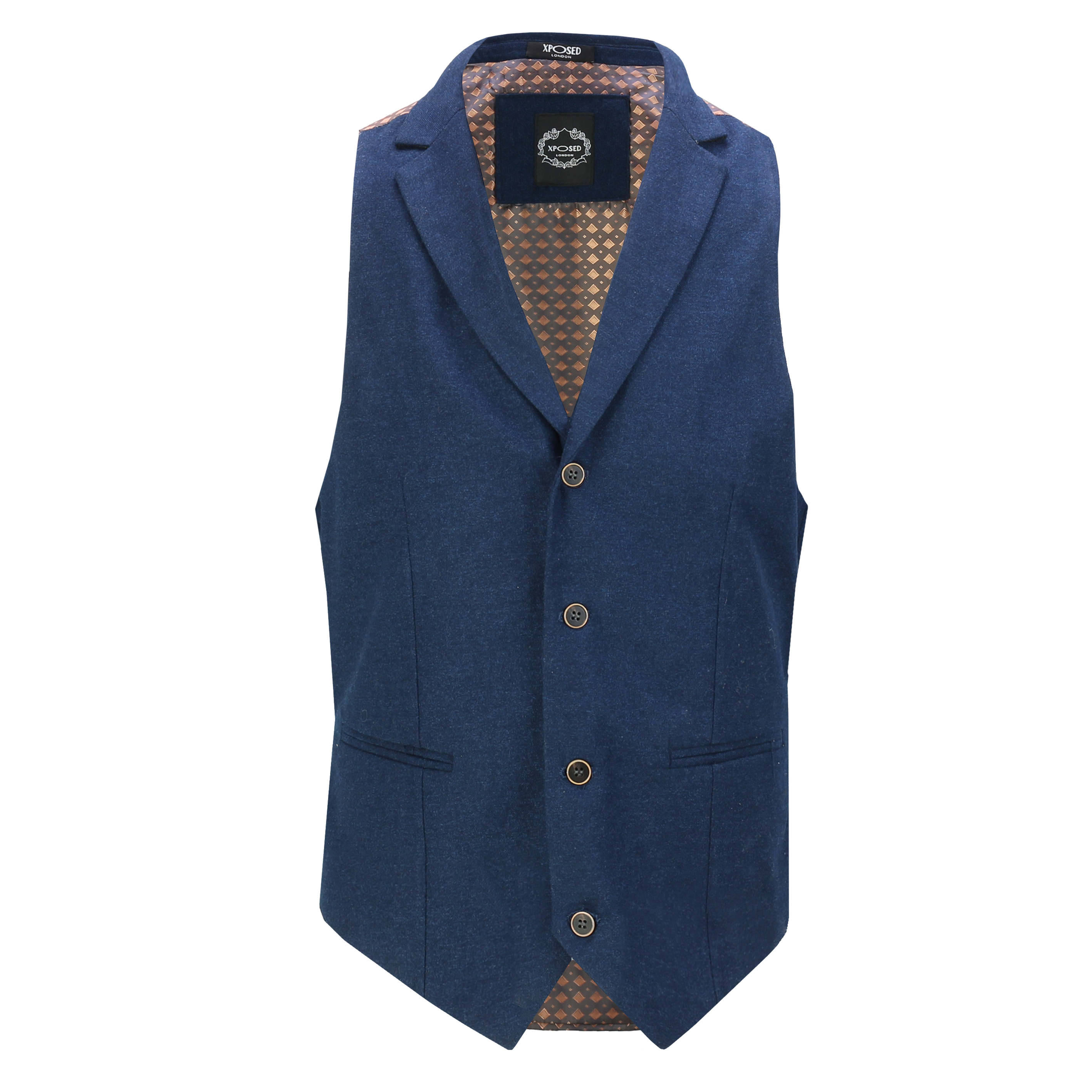 Mens-Classic-Collar-Waistcoat-Retro-Vintage-Style-Tailored-Fit-Smart-Formal-Vest thumbnail 18