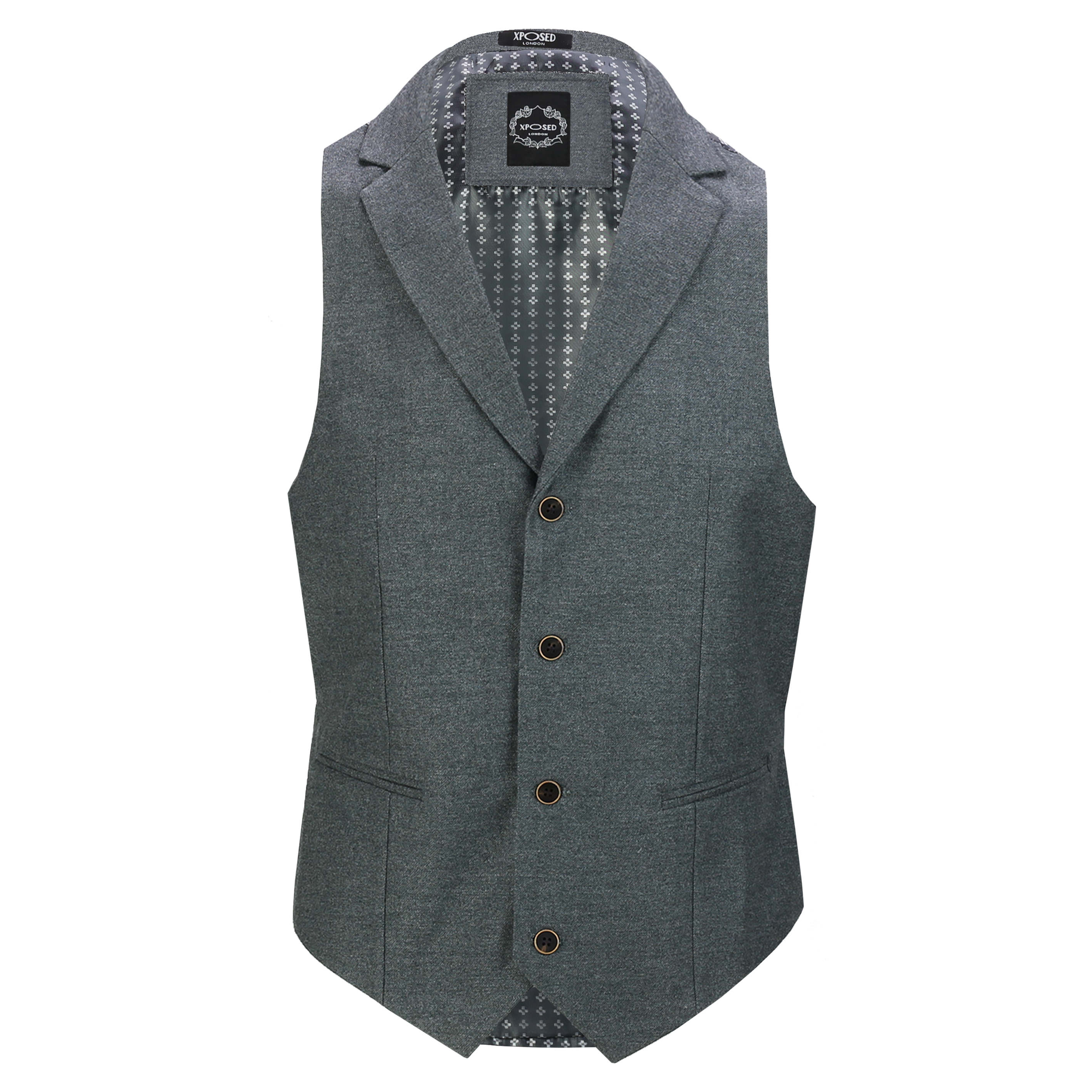 Mens-Classic-Collar-Waistcoat-Retro-Vintage-Style-Tailored-Fit-Smart-Formal-Vest thumbnail 12