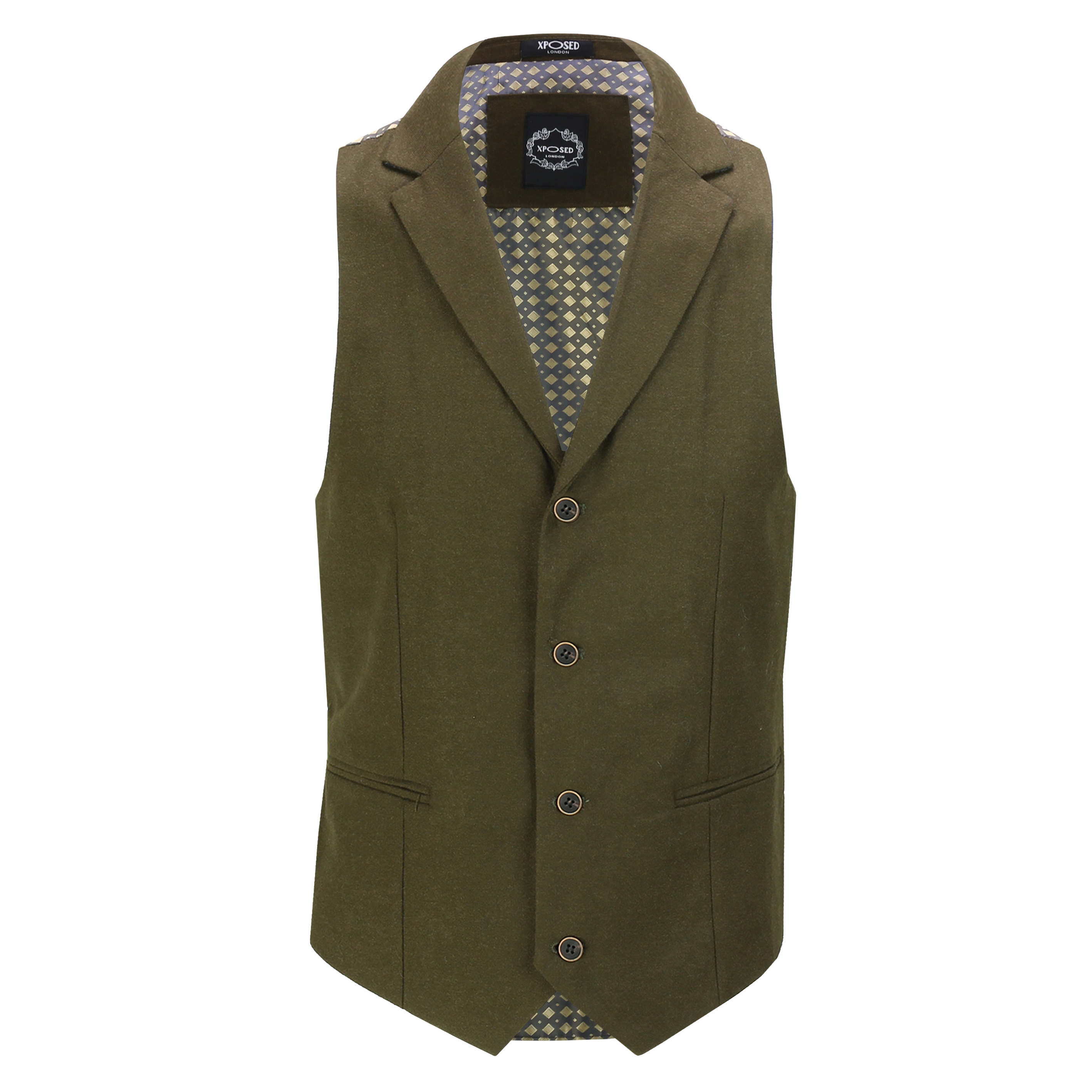 Mens-Classic-Collar-Waistcoat-Retro-Vintage-Style-Tailored-Fit-Smart-Formal-Vest thumbnail 6