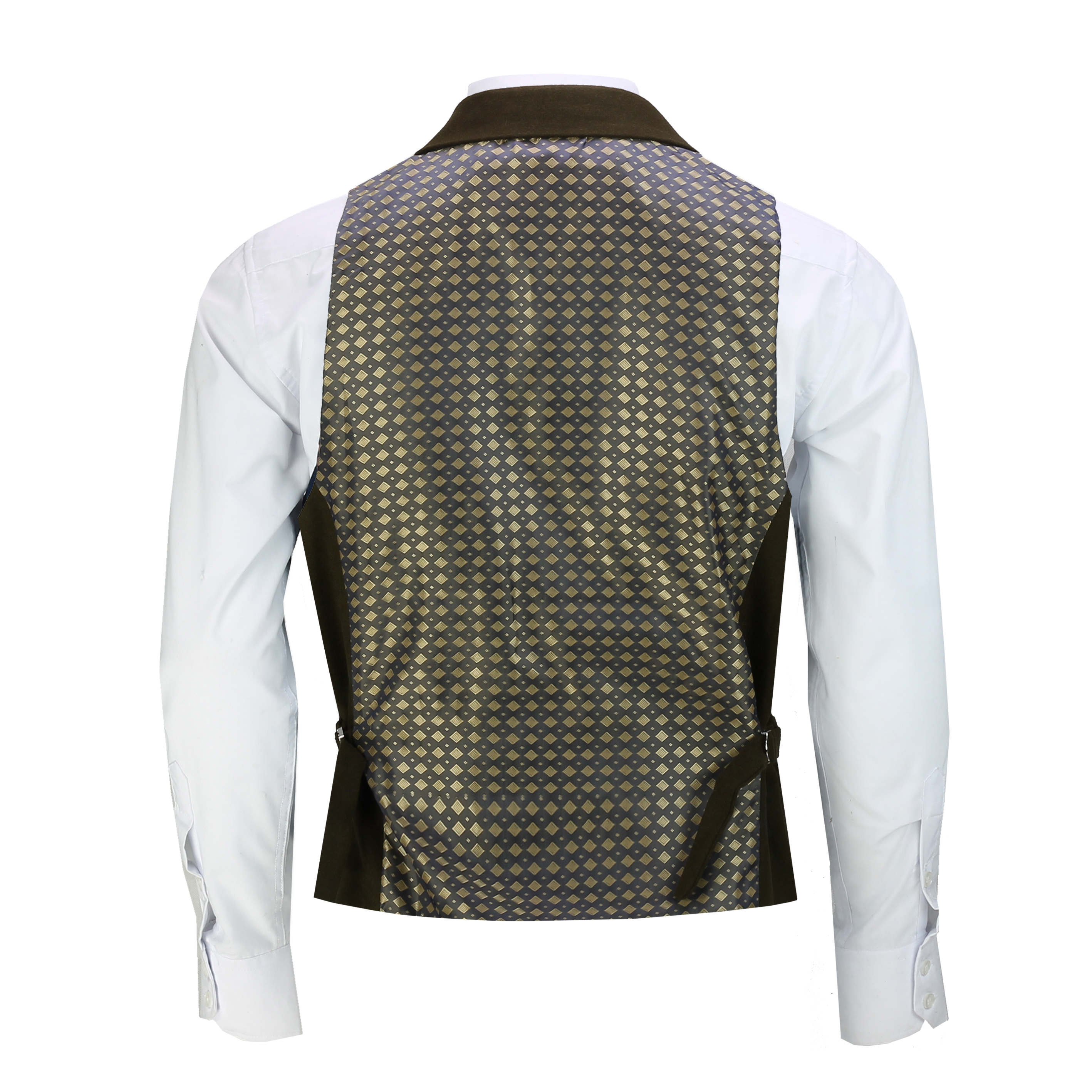 Mens-Classic-Collar-Waistcoat-Retro-Vintage-Style-Tailored-Fit-Smart-Formal-Vest thumbnail 7