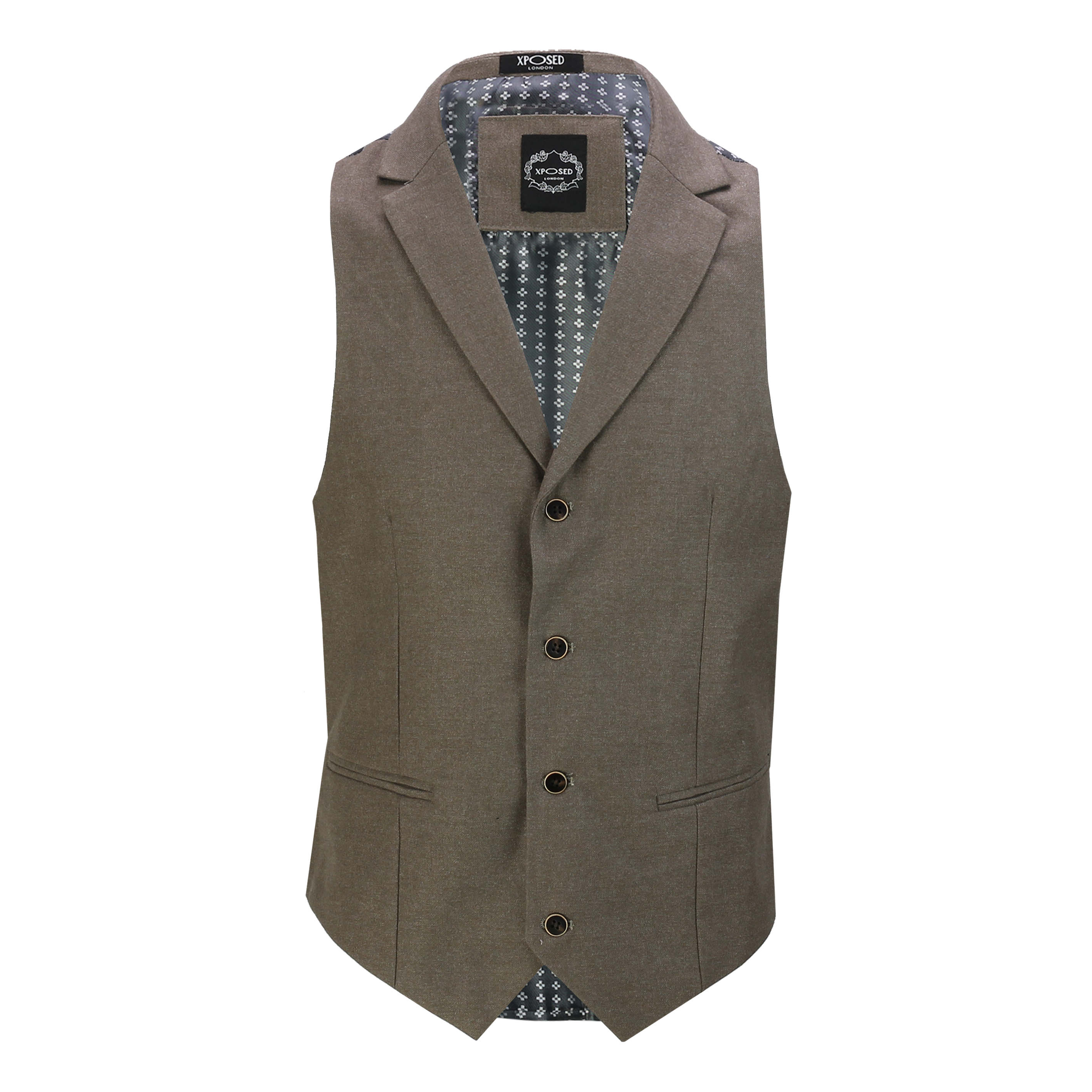 Mens-Classic-Collar-Waistcoat-Retro-Vintage-Style-Tailored-Fit-Smart-Formal-Vest thumbnail 9