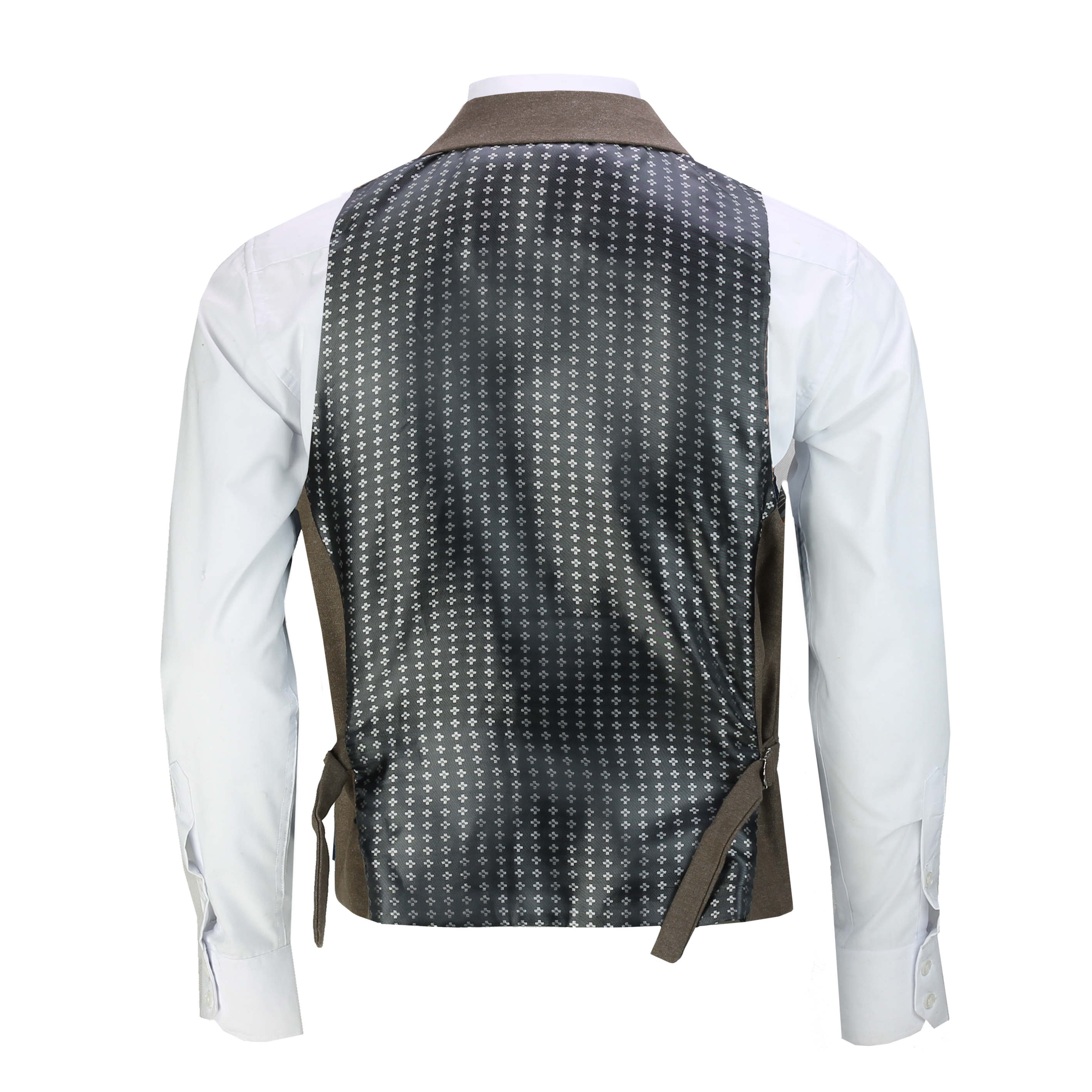 Mens-Classic-Collar-Waistcoat-Retro-Vintage-Style-Tailored-Fit-Smart-Formal-Vest thumbnail 10