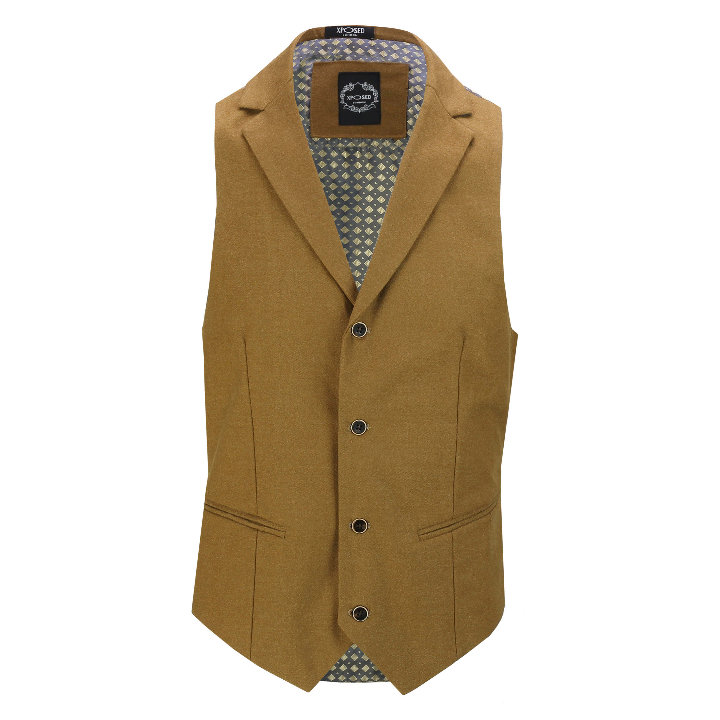 Mens-Classic-Collar-Waistcoat-Retro-Vintage-Style-Tailored-Fit-Smart-Formal-Vest thumbnail 24