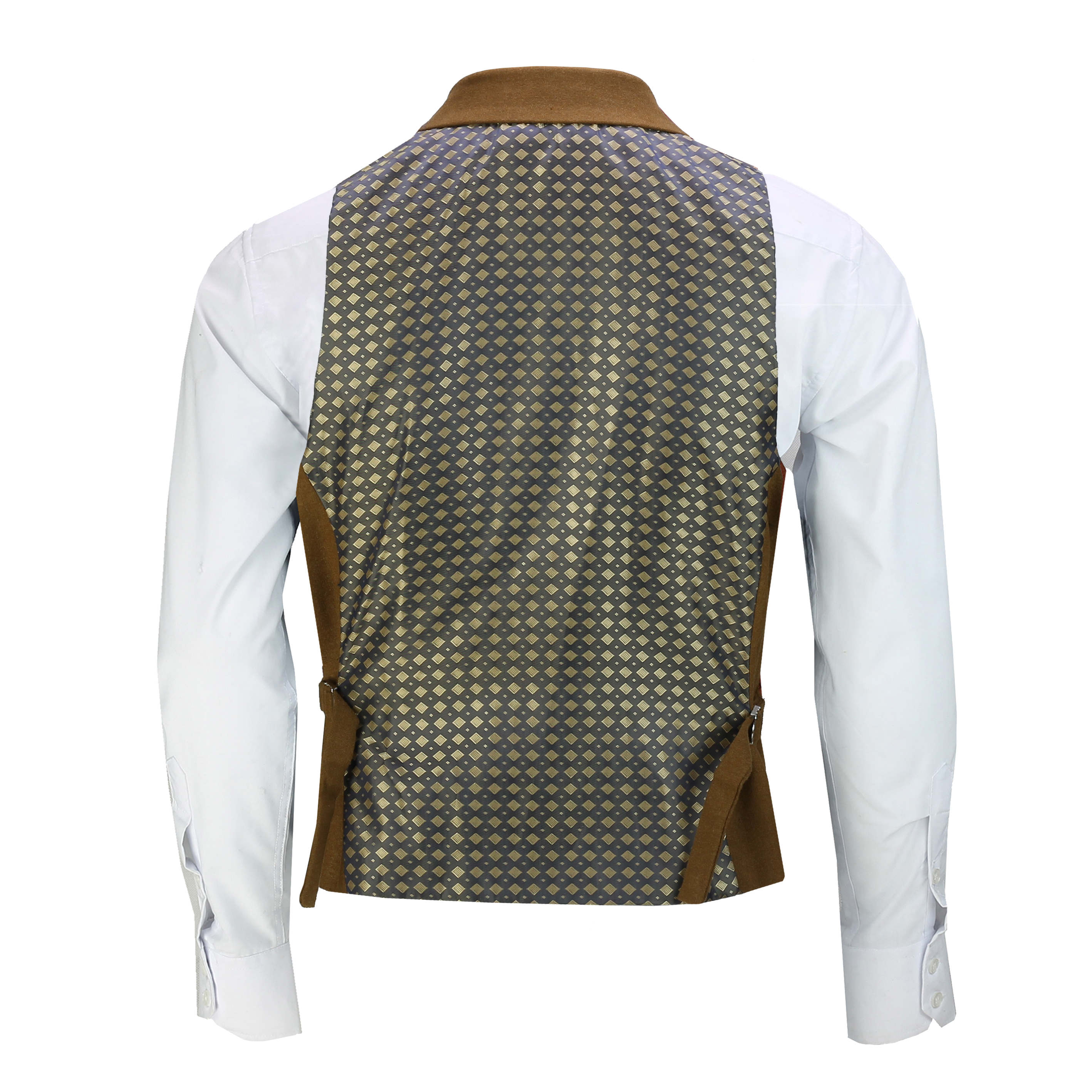 Mens-Classic-Collar-Waistcoat-Retro-Vintage-Style-Tailored-Fit-Smart-Formal-Vest thumbnail 25