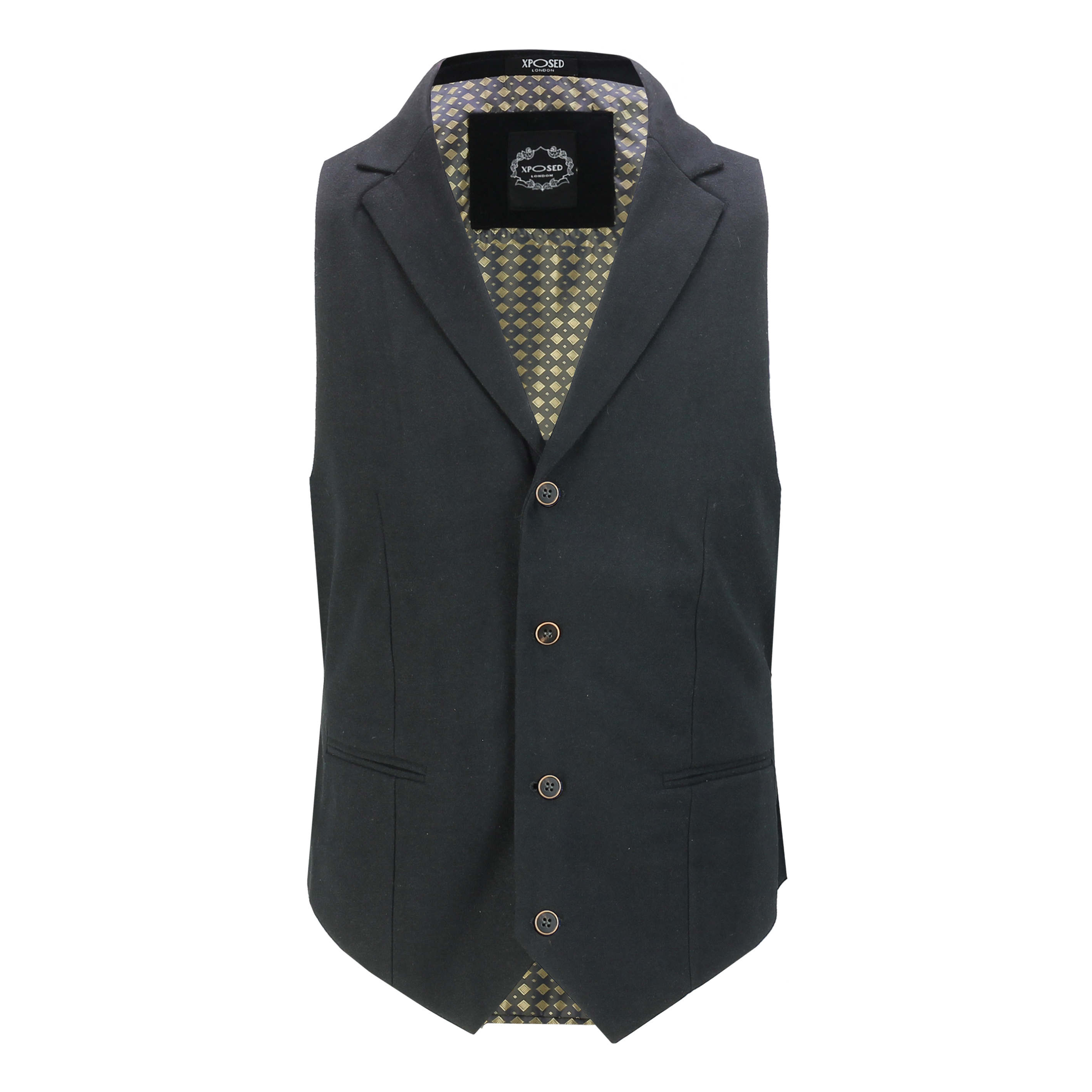 Mens-Classic-Collar-Waistcoat-Retro-Vintage-Style-Tailored-Fit-Smart-Formal-Vest thumbnail 3