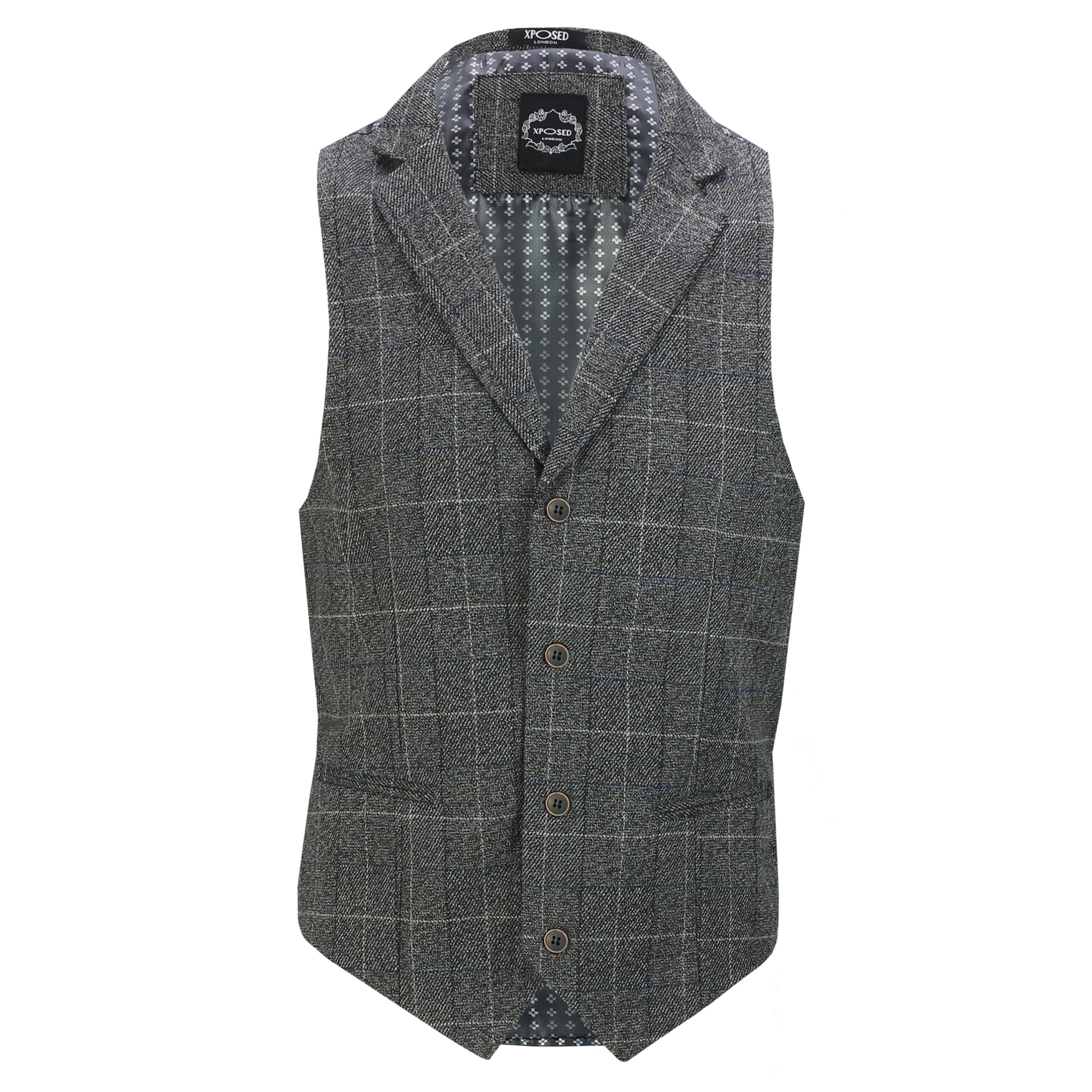 Mens-Classic-Collar-Waistcoat-Retro-Vintage-Style-Tailored-Fit-Smart-Formal-Vest thumbnail 15