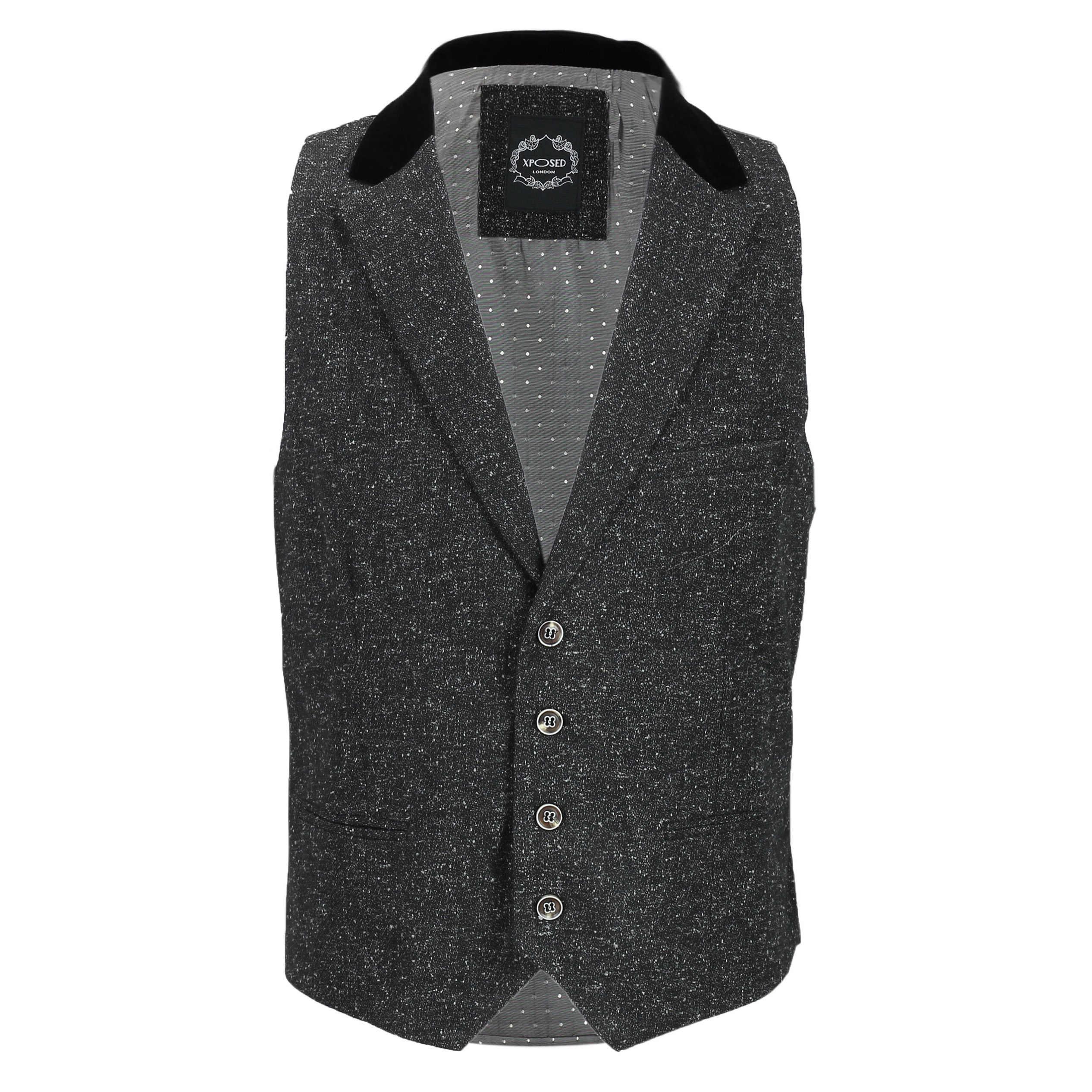 Para-hombre-Traje-de-3-piezas-de-lana-en-gris-se-vende-por-separado-Retro-Blazer-Chaleco-Pantalones miniatura 14