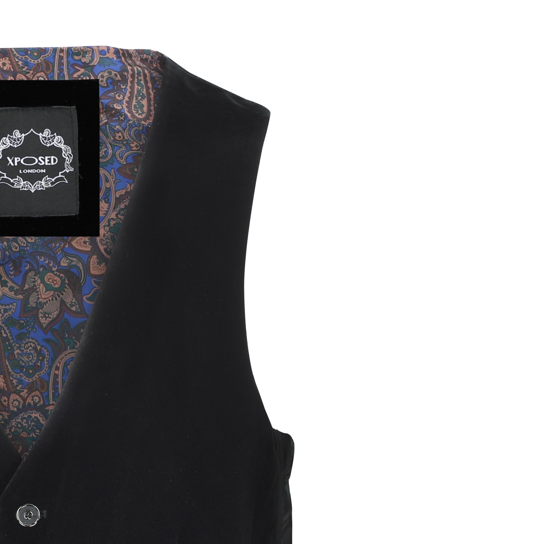 Para-hombre-negro-terciopelo-vintage-3-Piezas-Traje-Blazer-Chaleco-del-pantalon-se-vende-por miniatura 21