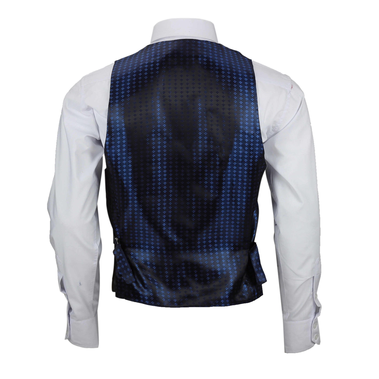 Nuevo-Chaleco-De-Hombre-Retro-Vintage-Marron-Tweed-Espiga-Roble-cheque-Smart-Casual miniatura 17
