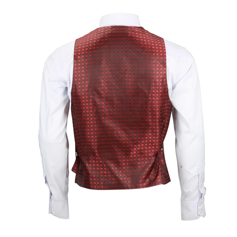 Nuevo-Chaleco-De-Hombre-Retro-Vintage-Marron-Tweed-Espiga-Roble-cheque-Smart-Casual miniatura 42
