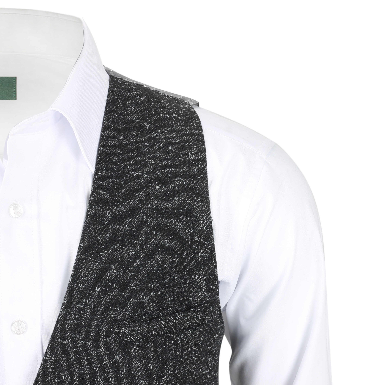 Nuevo-Chaleco-De-Hombre-Retro-Vintage-Marron-Tweed-Espiga-Roble-cheque-Smart-Casual miniatura 28